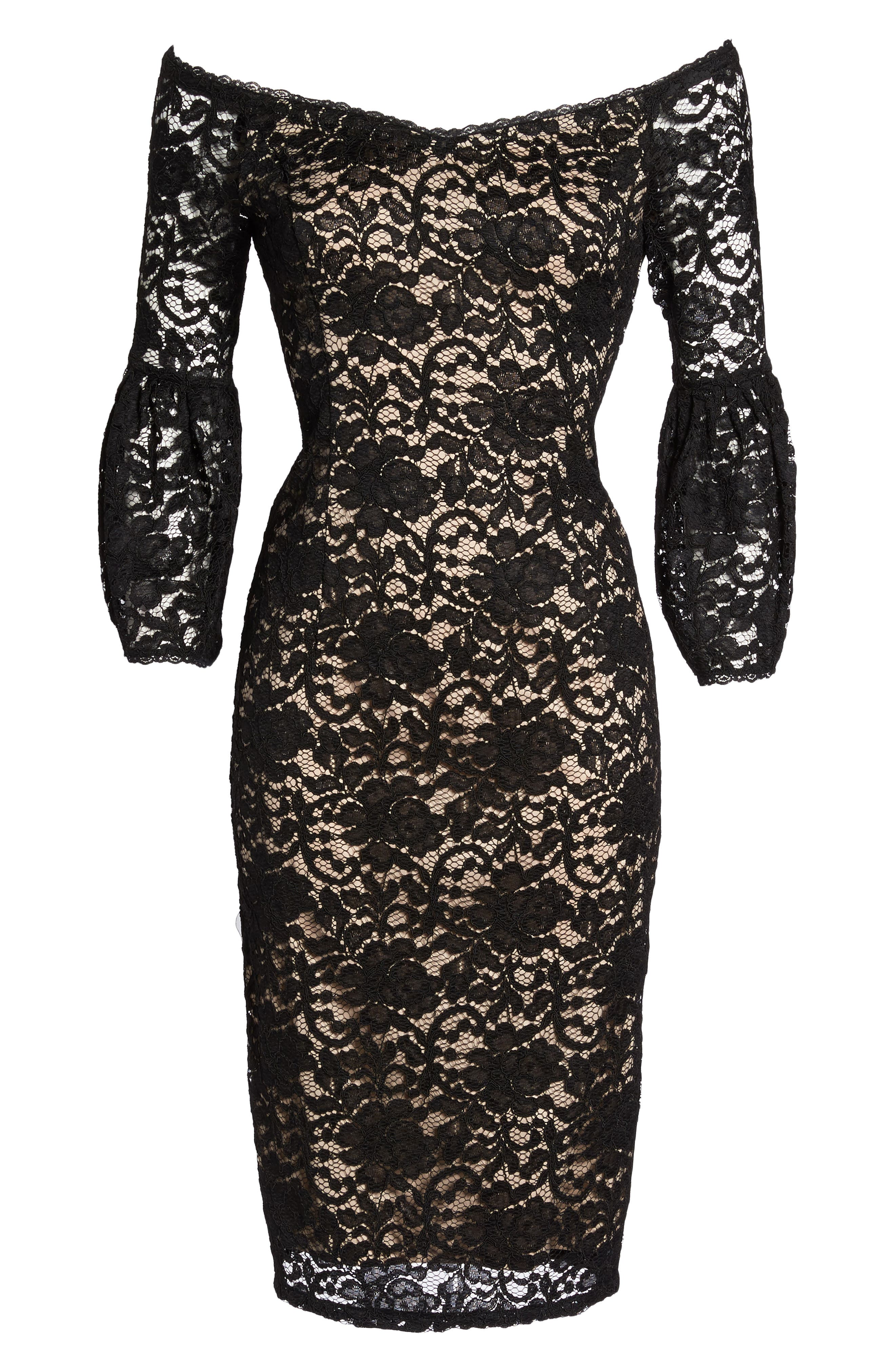 Alternate Image 6  - Adrianna Papell Juliet Lace Off the Shoulder Dress