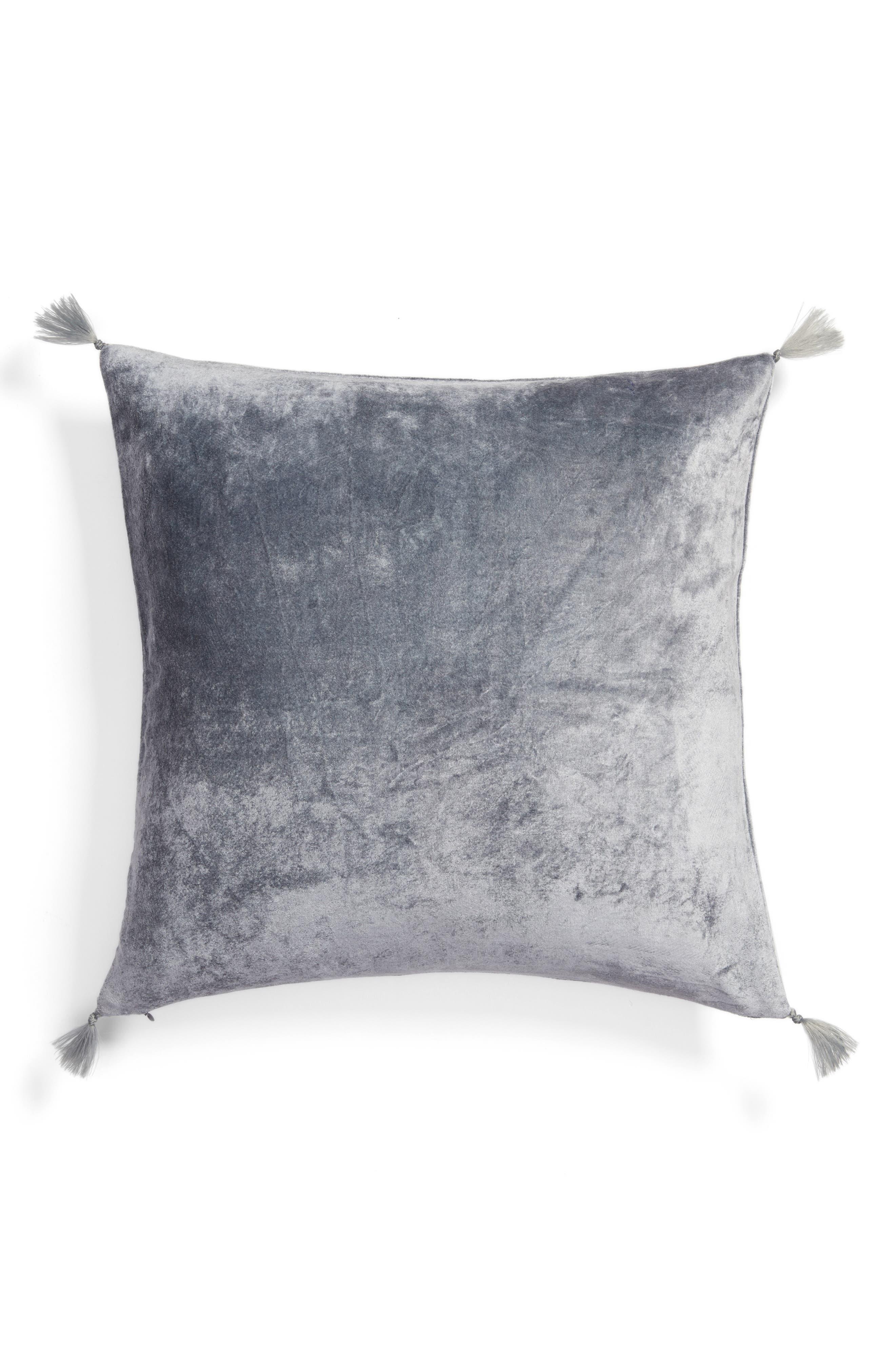Nordstrom at Home Shimmer Velvet Tassel Pillow