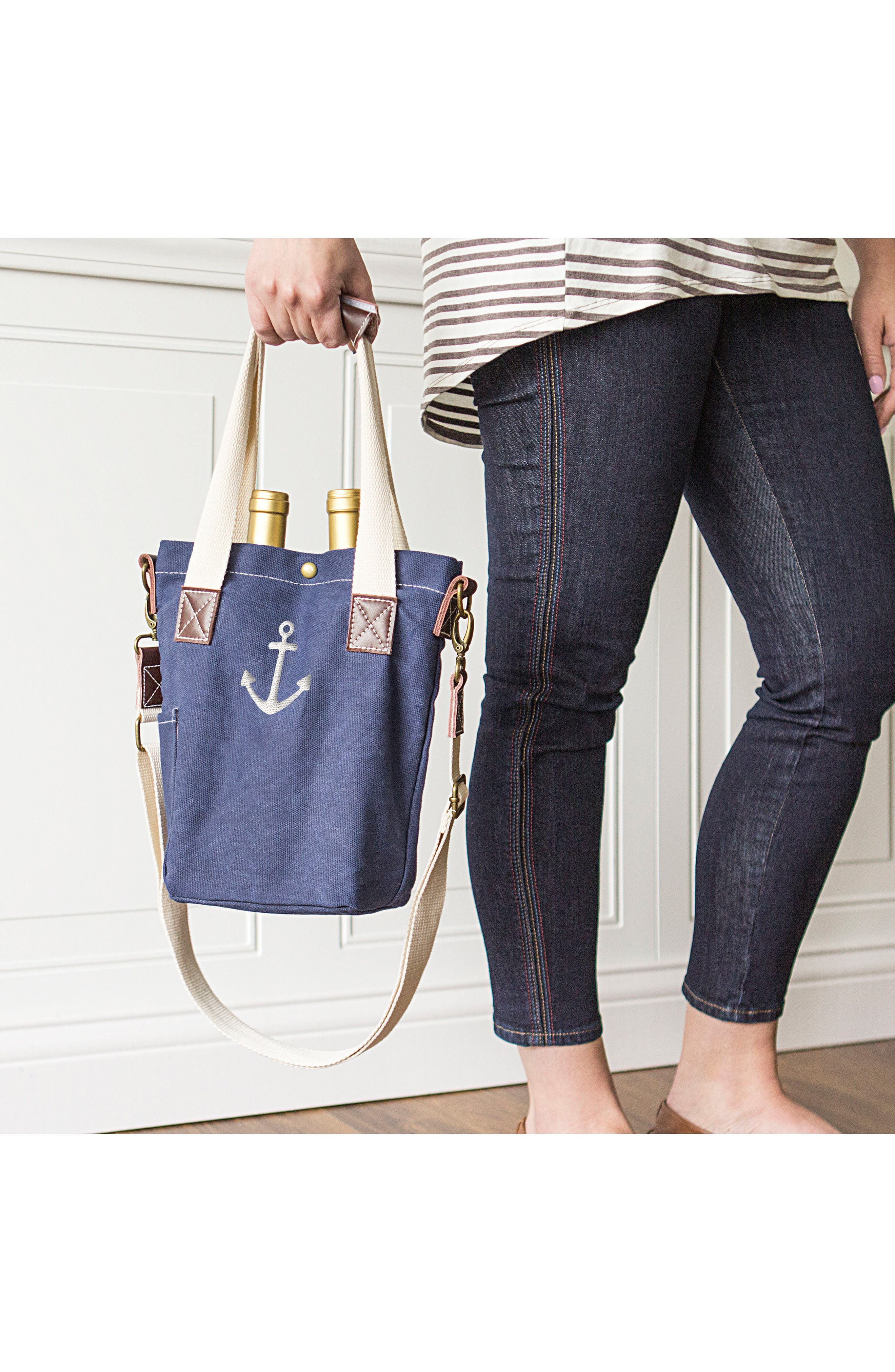 Alternate Image 5  - Cathy's Concepts Anchor Wine Tote
