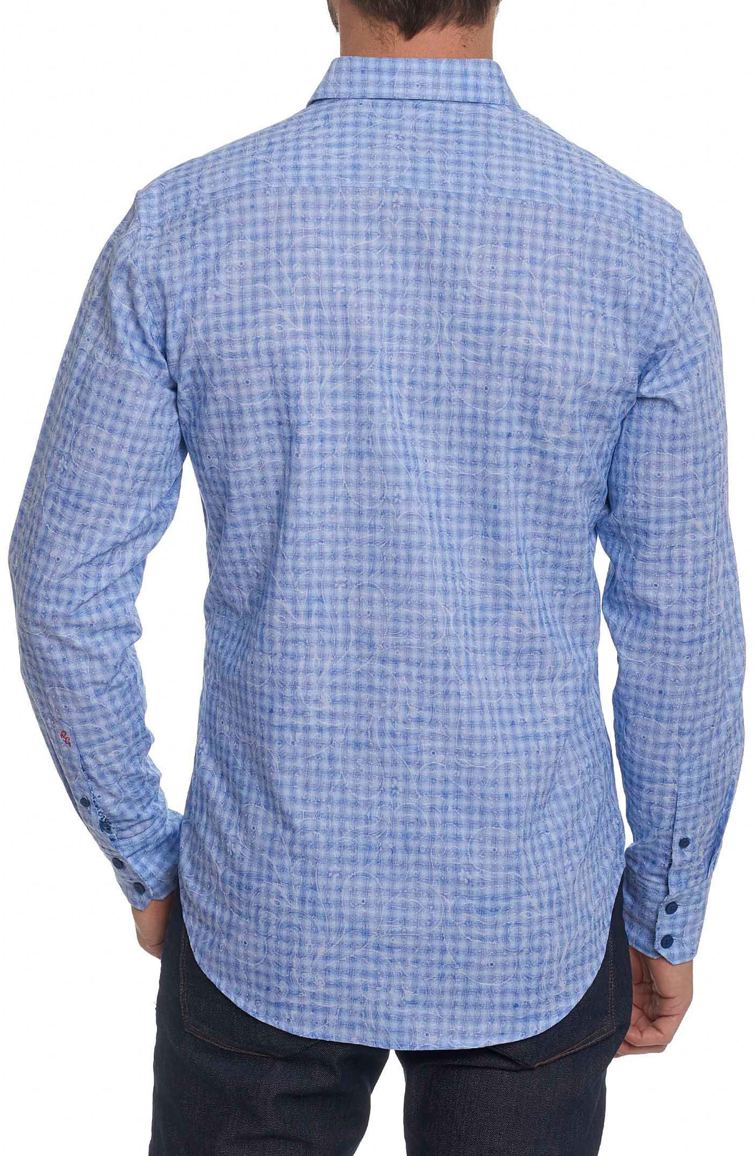 Classic Fit Print Sport Shirt,                             Alternate thumbnail 2, color,                             Blue