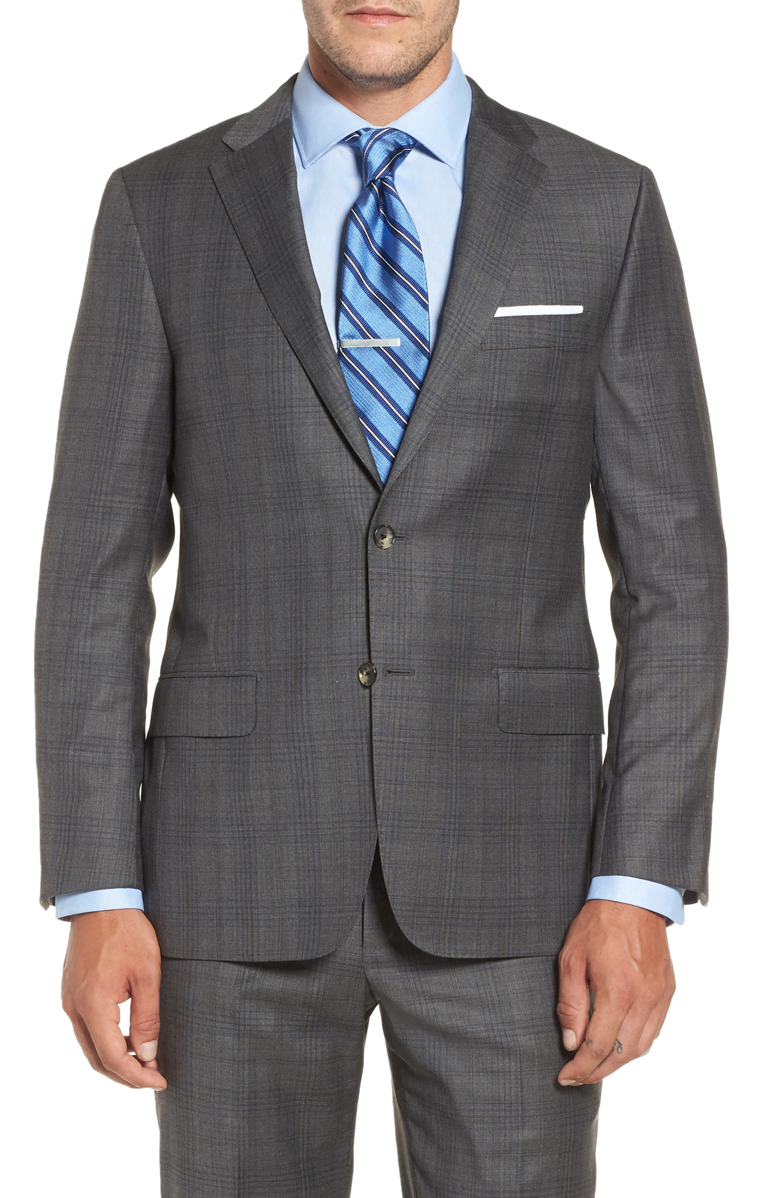 Alternate Image 4  - Hickey Freeman Classic B Fit Plaid Wool Suit