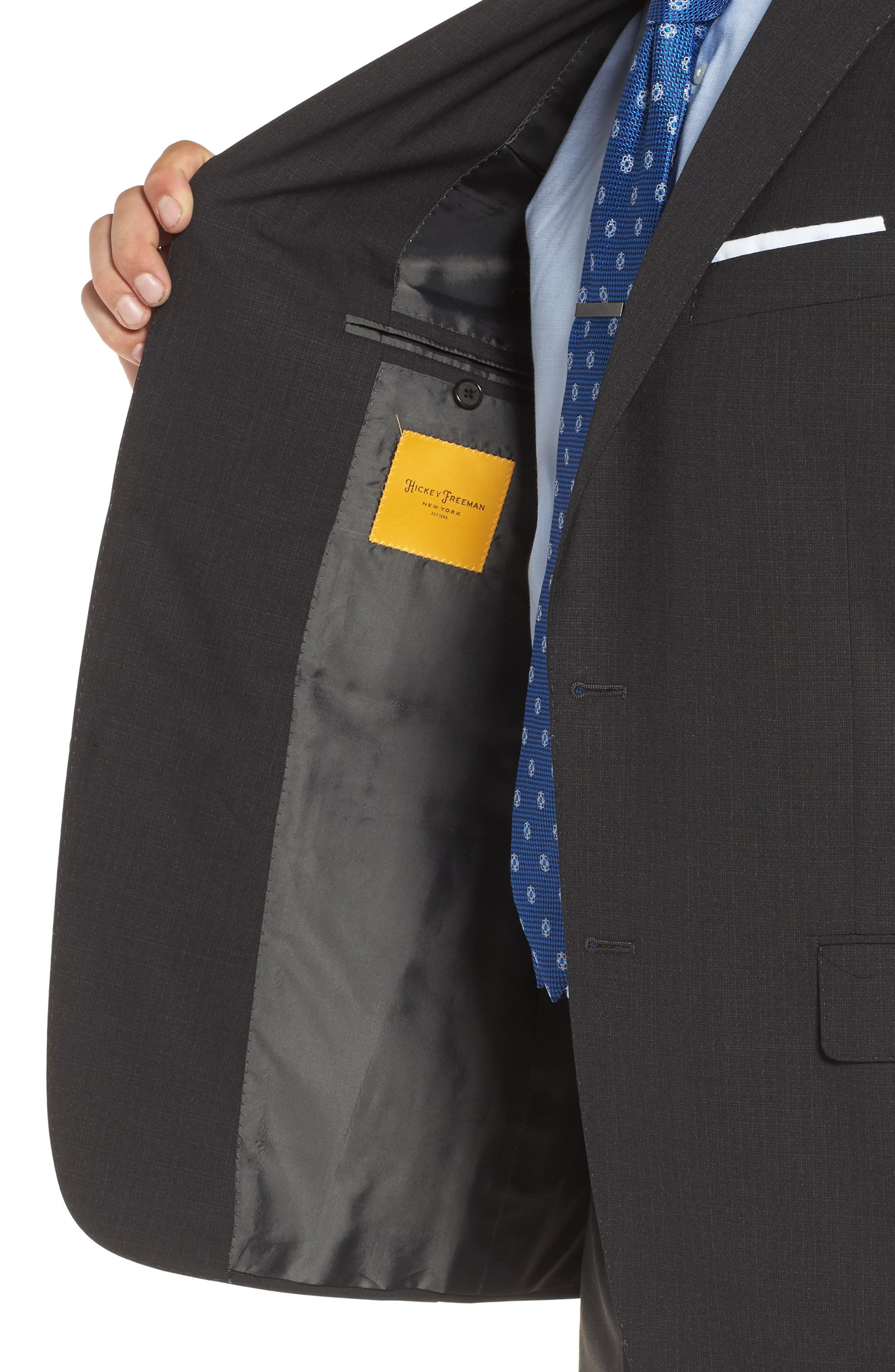 Alternate Image 4  - Hickey Freeman Classic B Fit Check Wool Suit