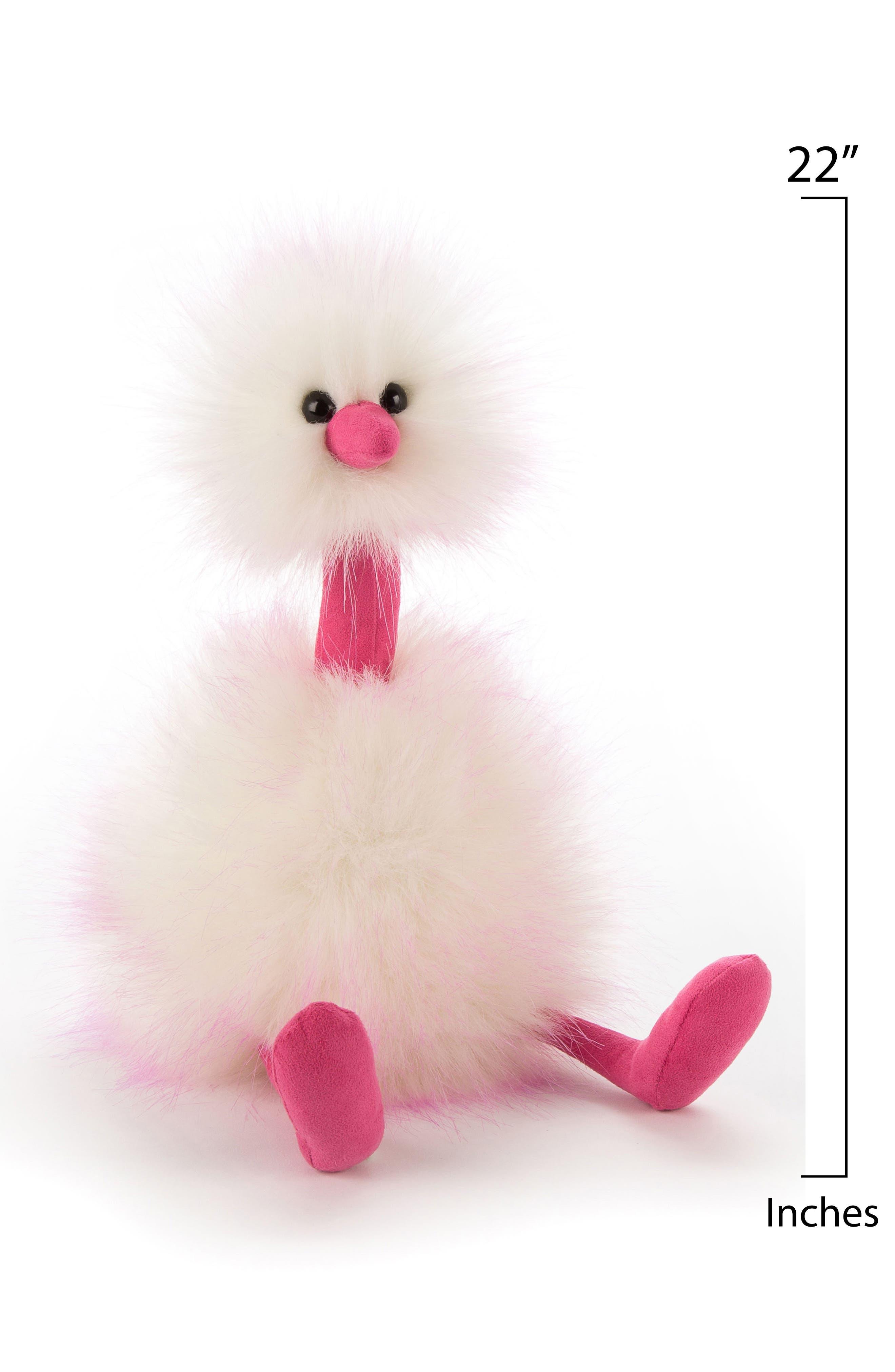 Jellycat Raspberry Ripple Pompom Stuffed Animal