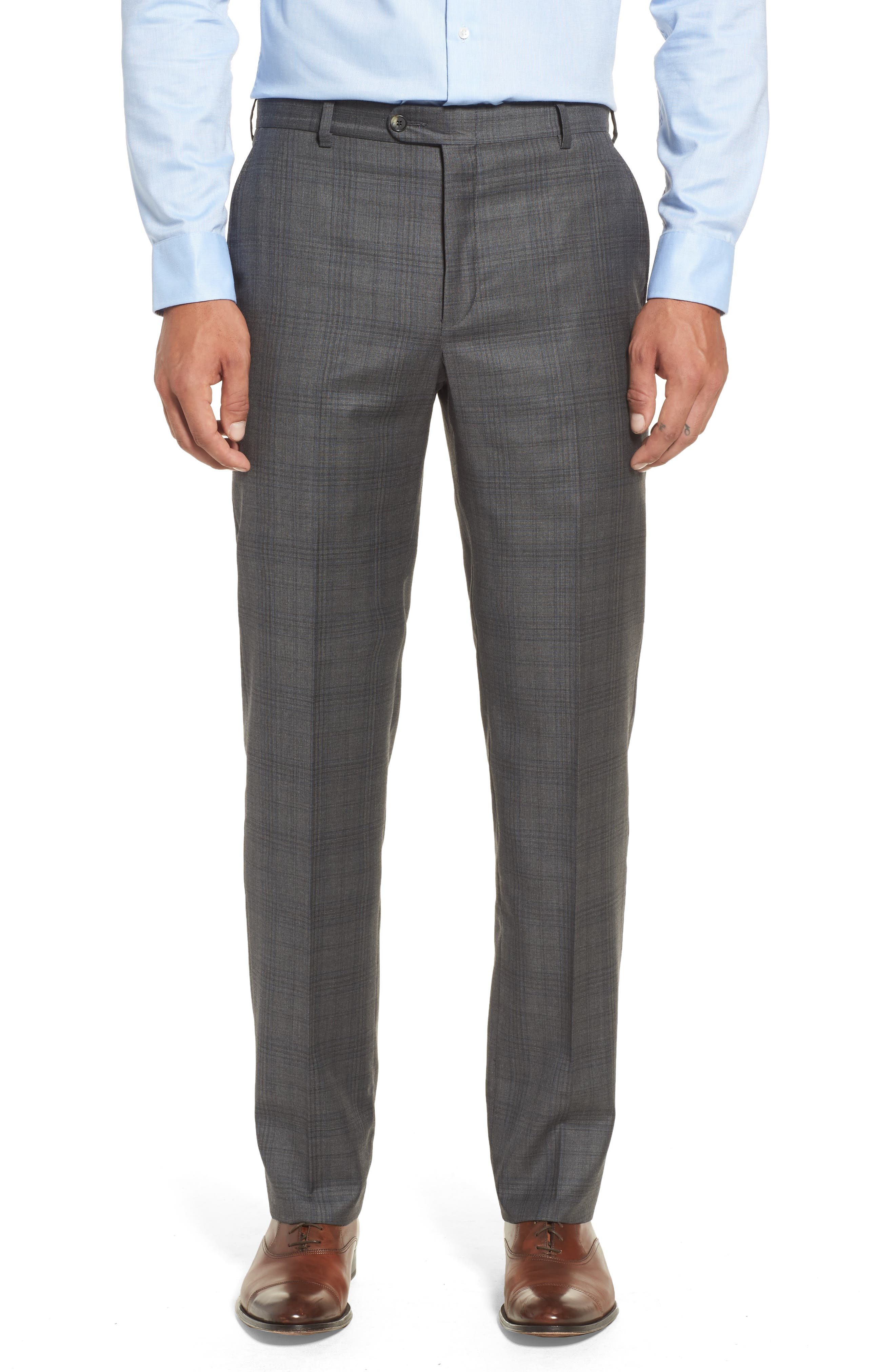 Alternate Image 6  - Hickey Freeman Classic B Fit Plaid Wool Suit