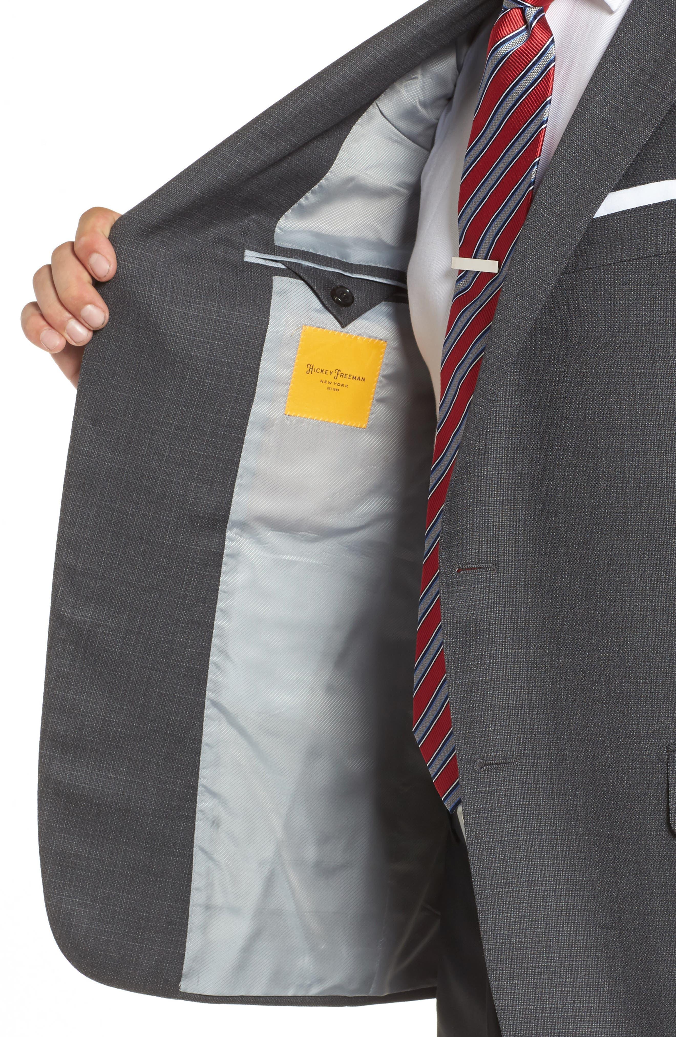 Alternate Image 4  - Hickey Freeman Classic B Fit Wool Blazer