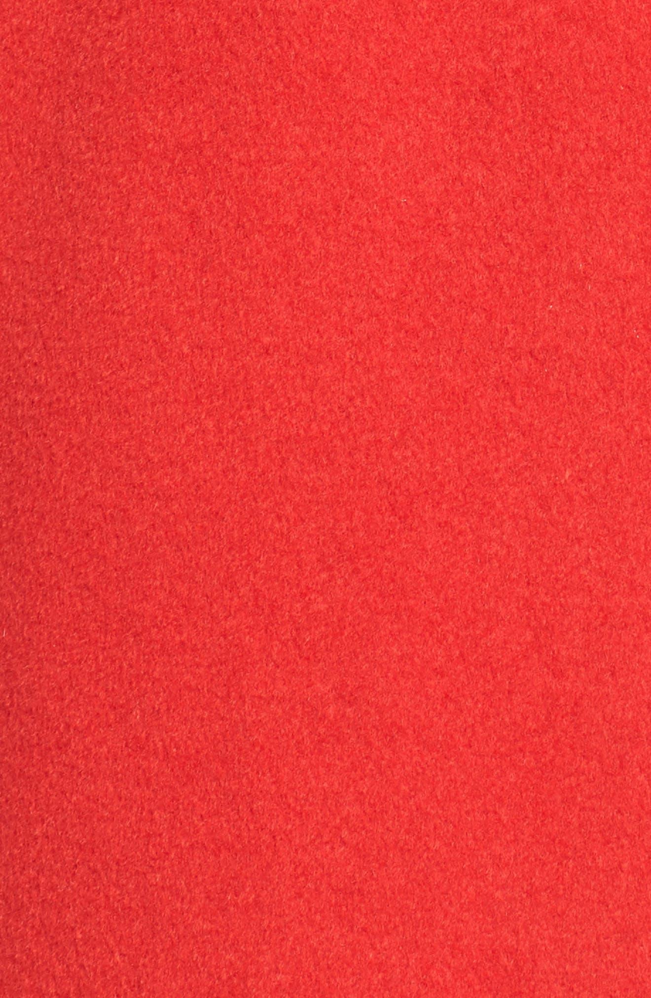 Wool Blend Coat,                             Alternate thumbnail 5, color,                             Red