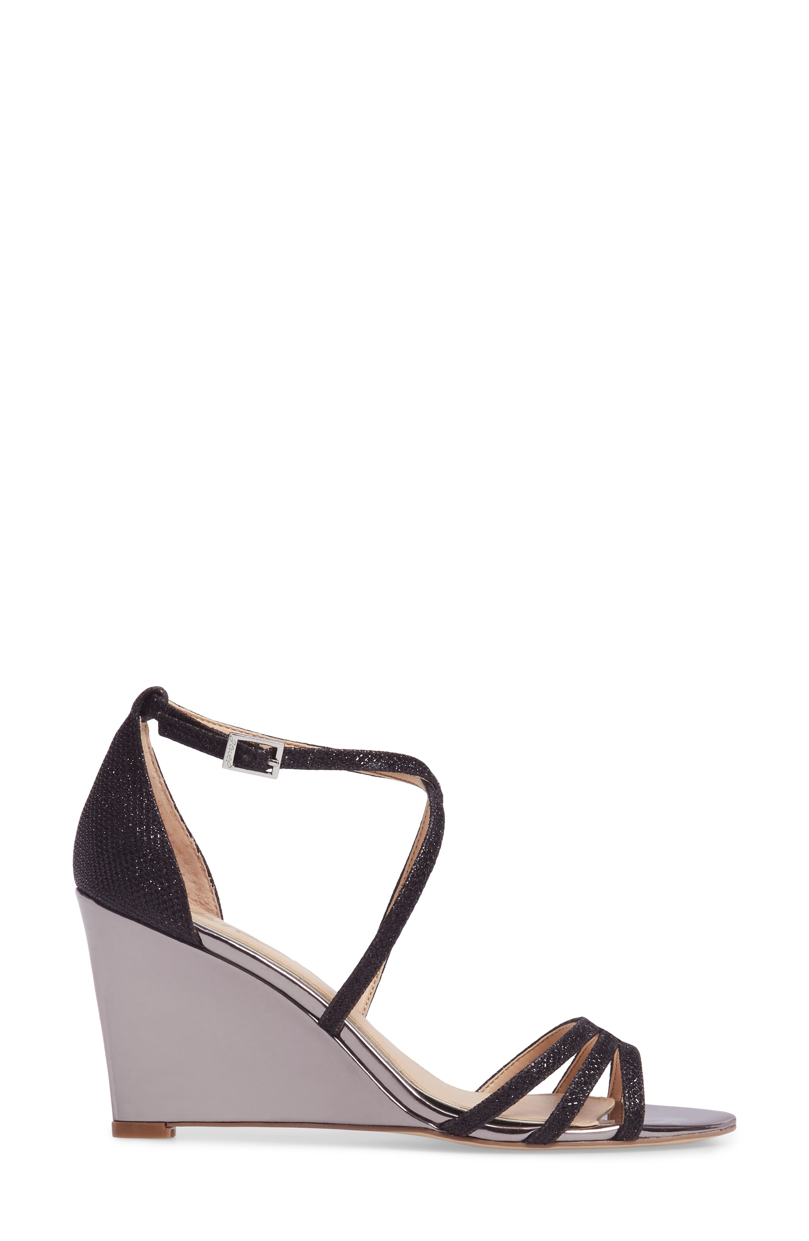 Alternate Image 3  - Jewel Badgley Mischka Hunt Glittery Wedge Sandal (Women)