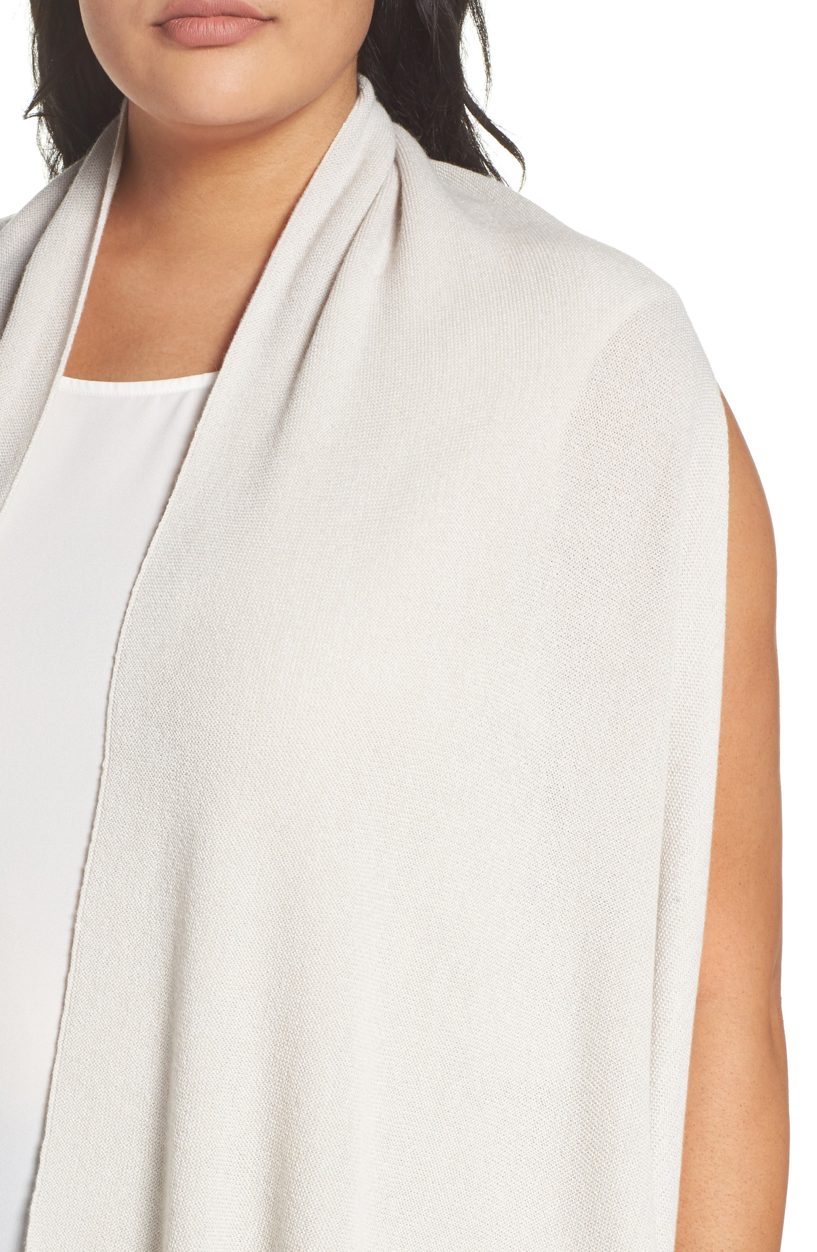 Wool Blend Knit Vest,                             Alternate thumbnail 4, color,                             Light Grey