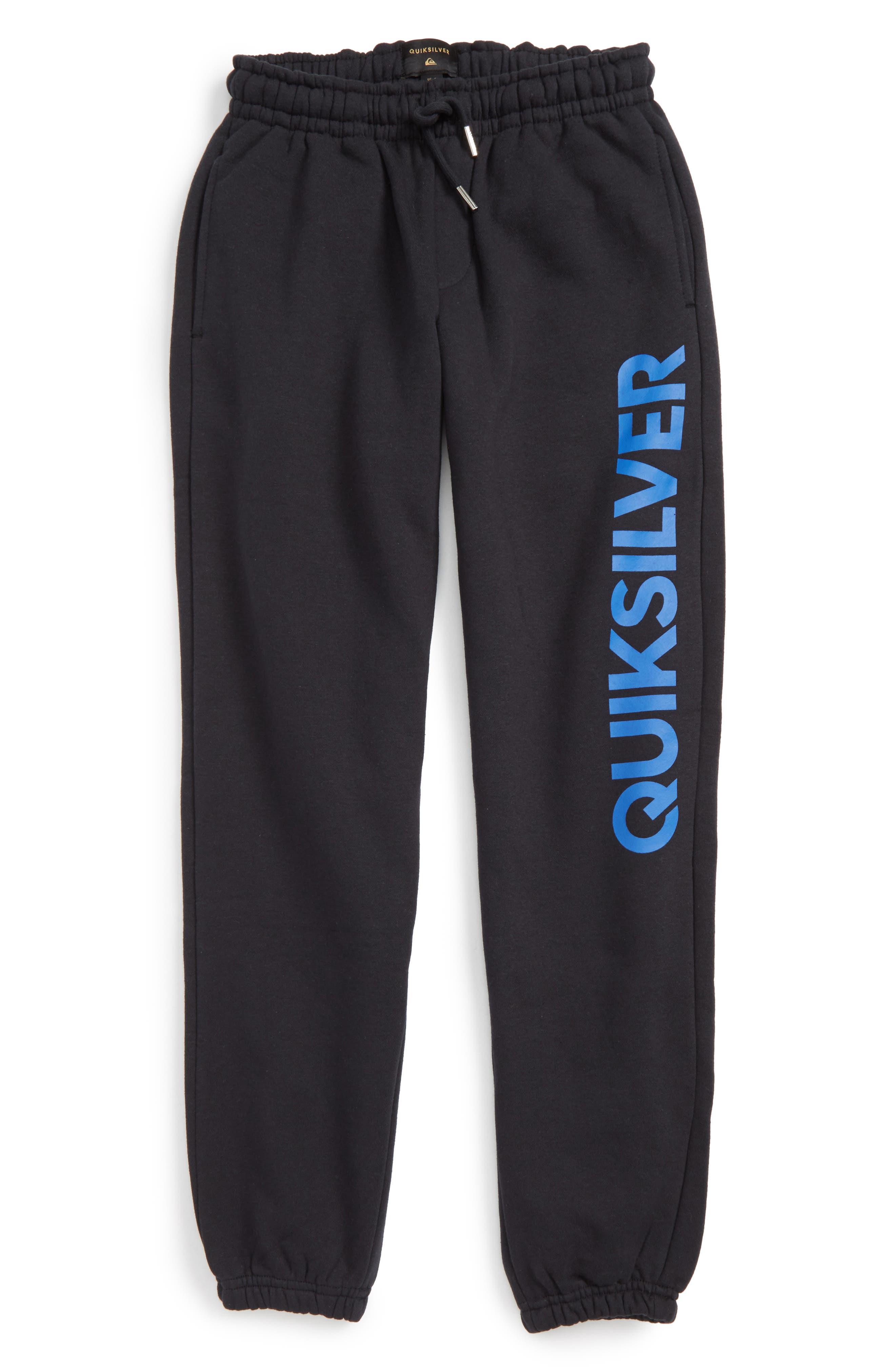 Quiksilver Logo Screenprint Track Pants (Big Boys)