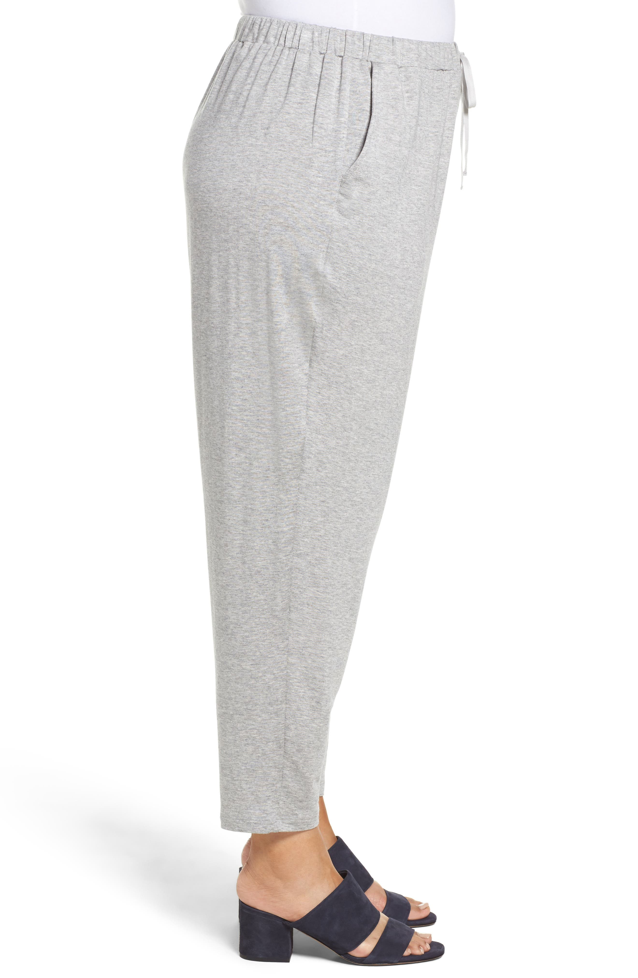 Alternate Image 3  - Eileen Fisher Drawstring Ankle Pants (Plus Size)