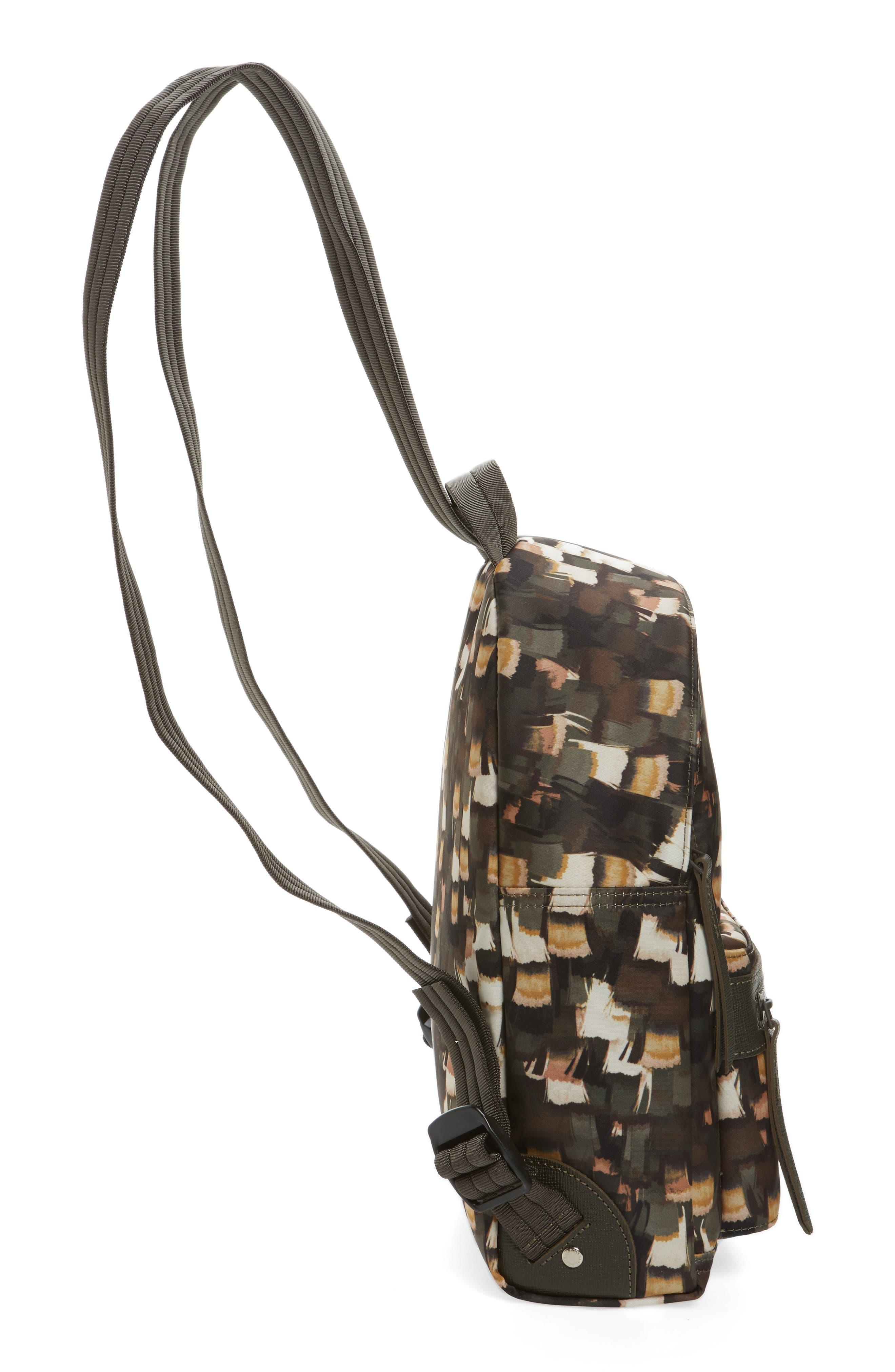 Le Pliage Neo - Vibrations Nylon Backpack,                             Alternate thumbnail 4, color,                             Khaki