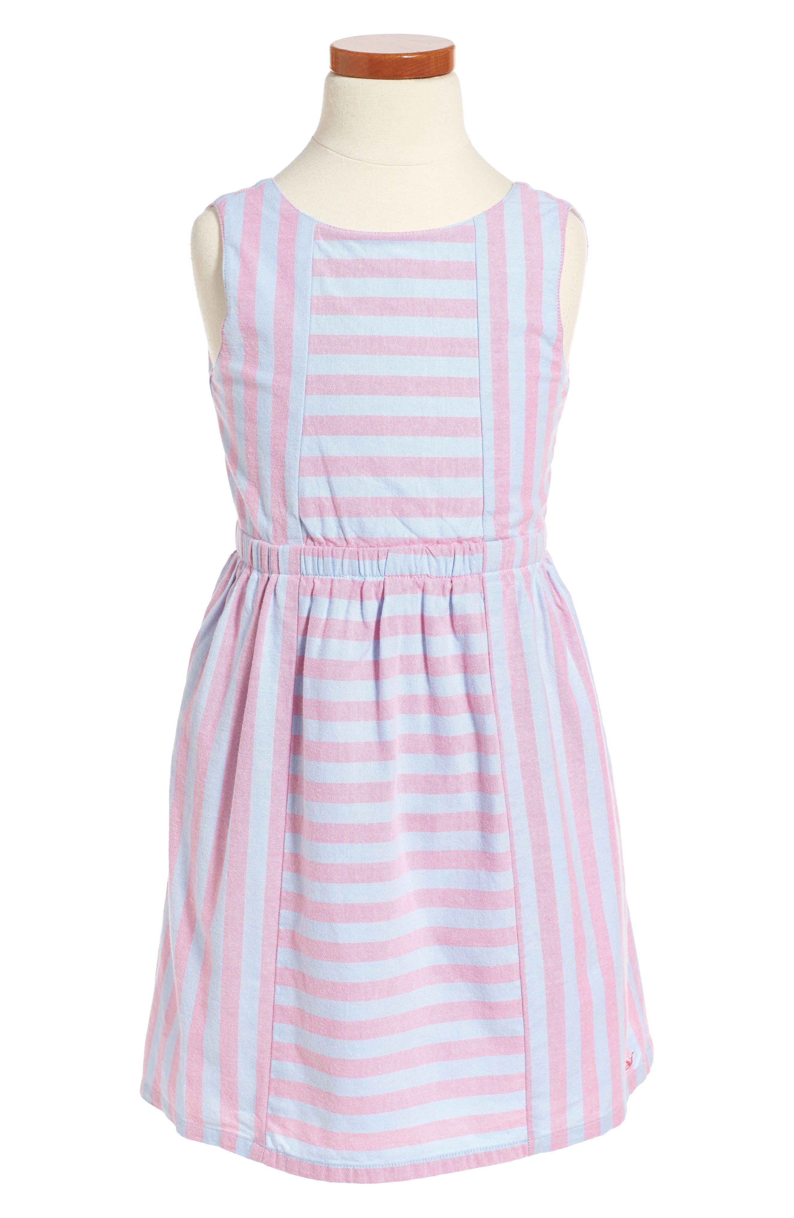 Coastside Stripe Dress,                         Main,                         color, Light Magenta