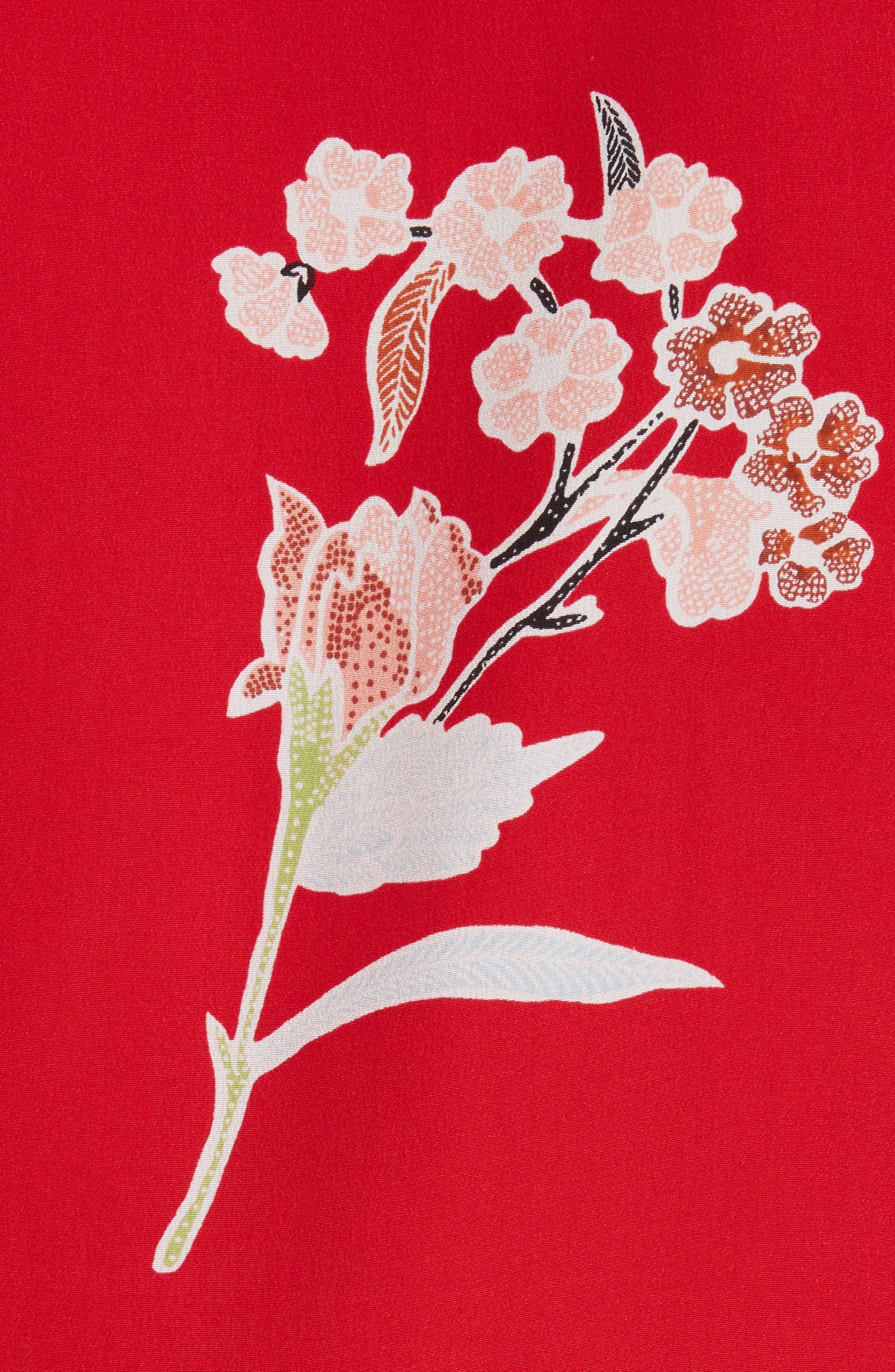 Alternate Image 5  - Diane von Furstenberg Floral Print Silk Shirt