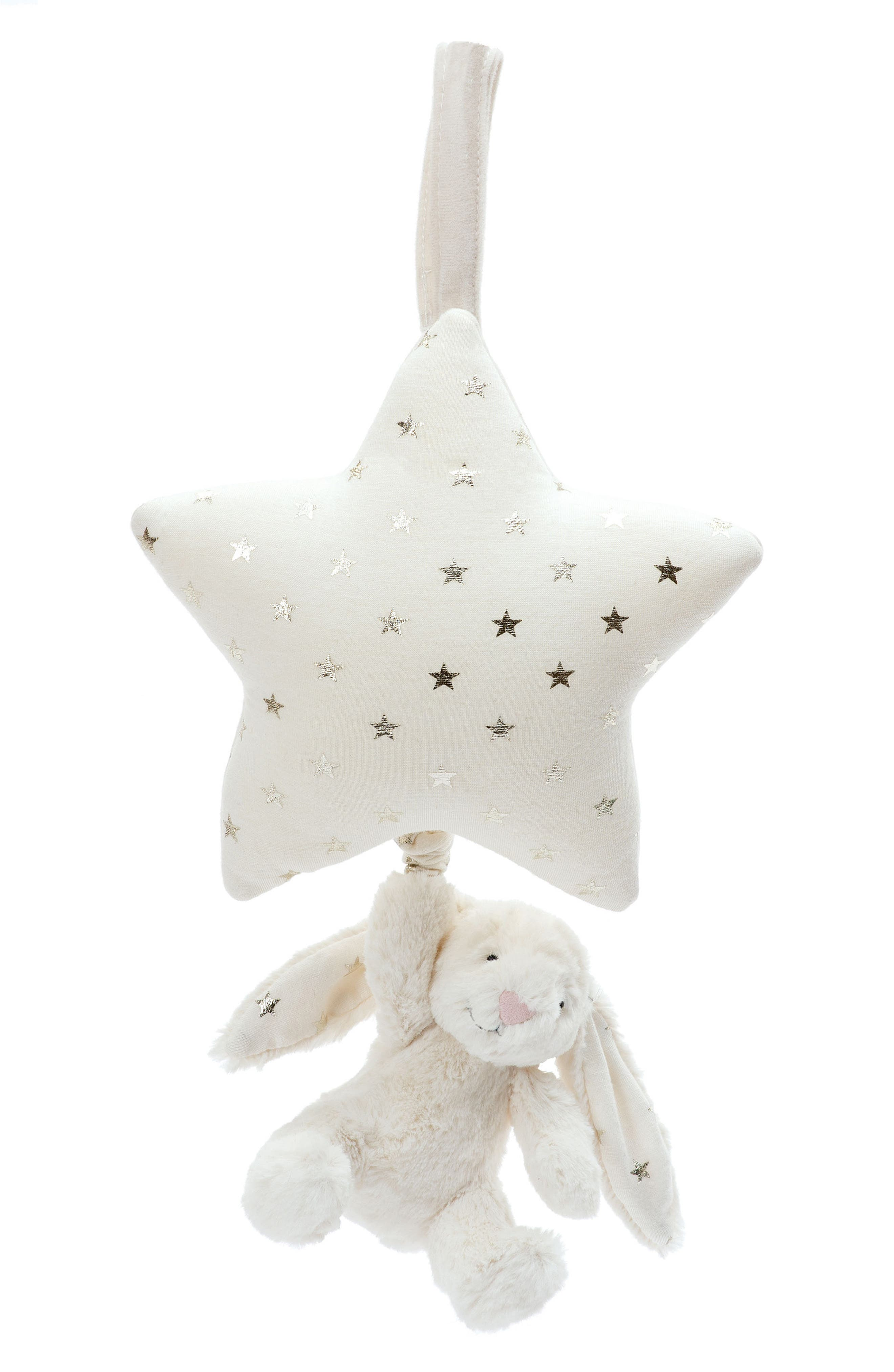 Twinkle Bunny Musical Pull,                         Main,                         color, Cream