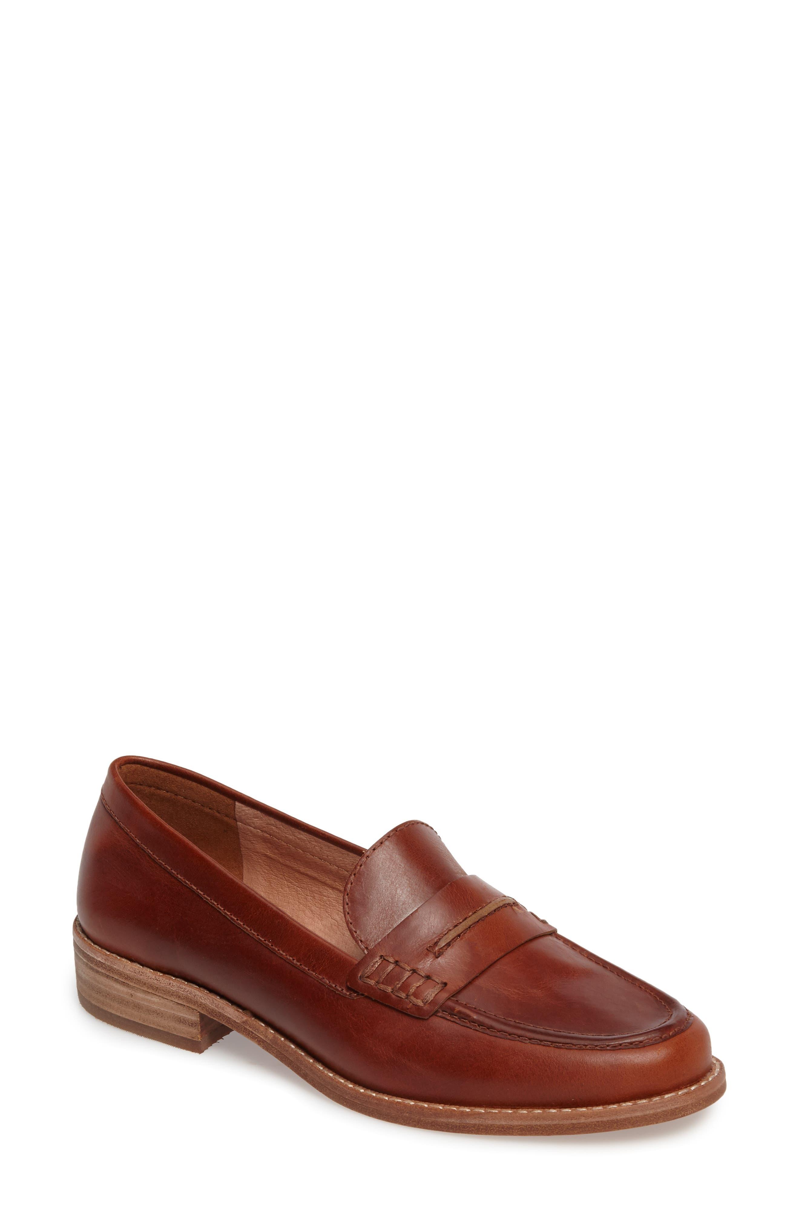 The Elinor Loafer,                         Main,                         color, Dark Chestnut Leather