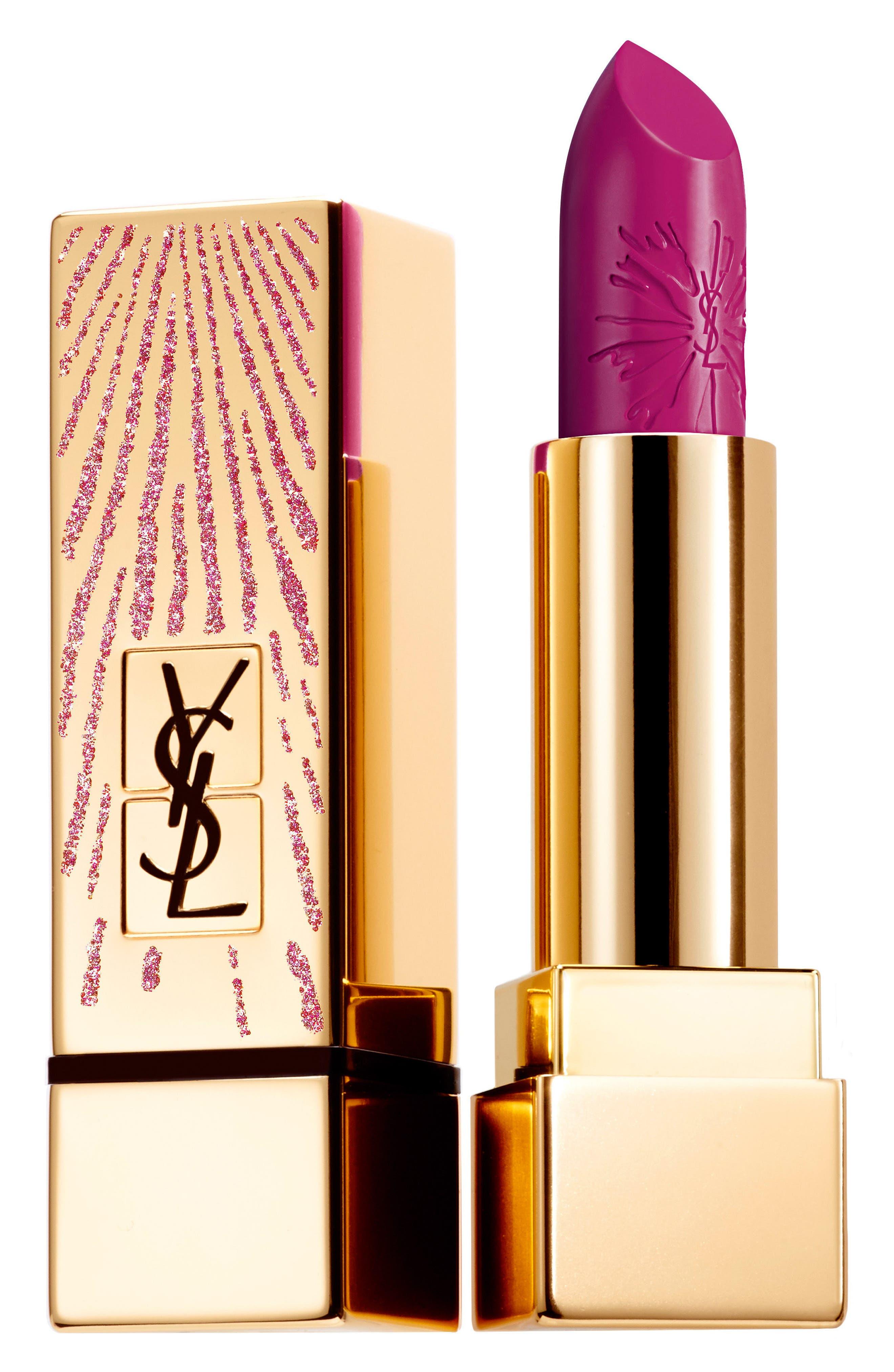 Rouge Pur Couture Dazzling Lights Lipstick,                         Main,                         color, 19 Le Fuchsia