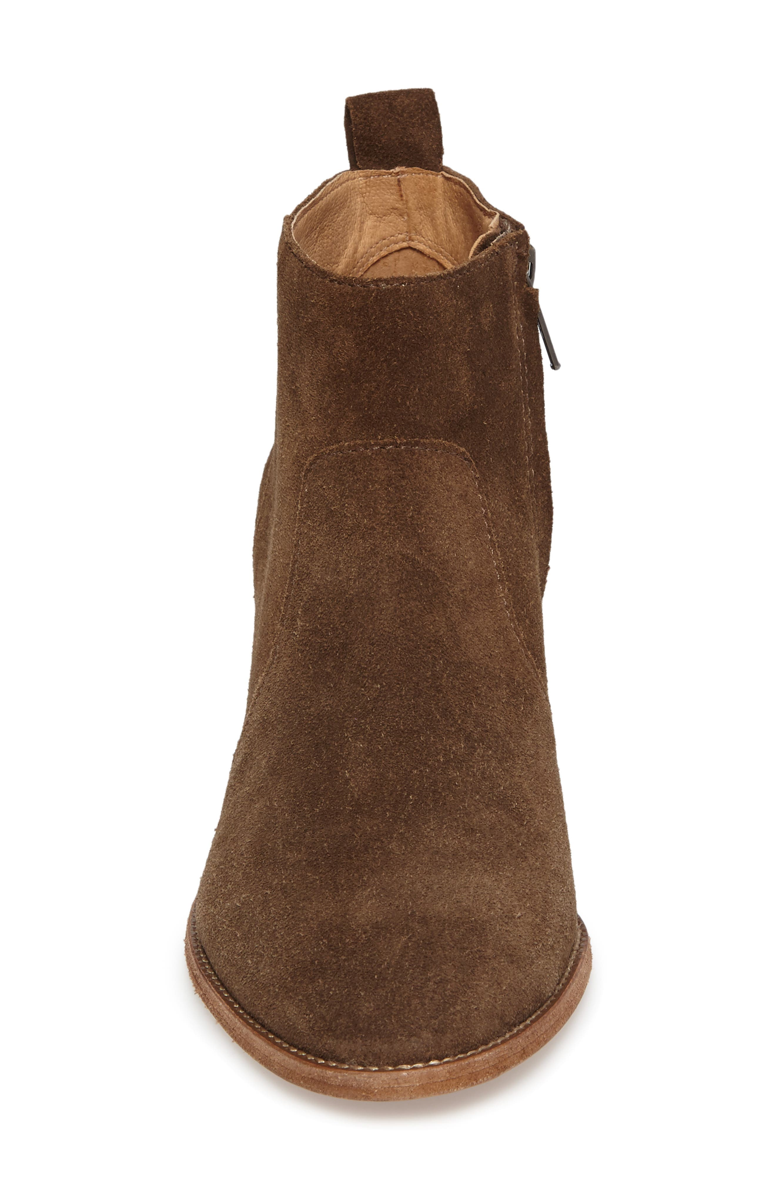 Brenner Bootie,                             Alternate thumbnail 4, color,                             Mink Suede