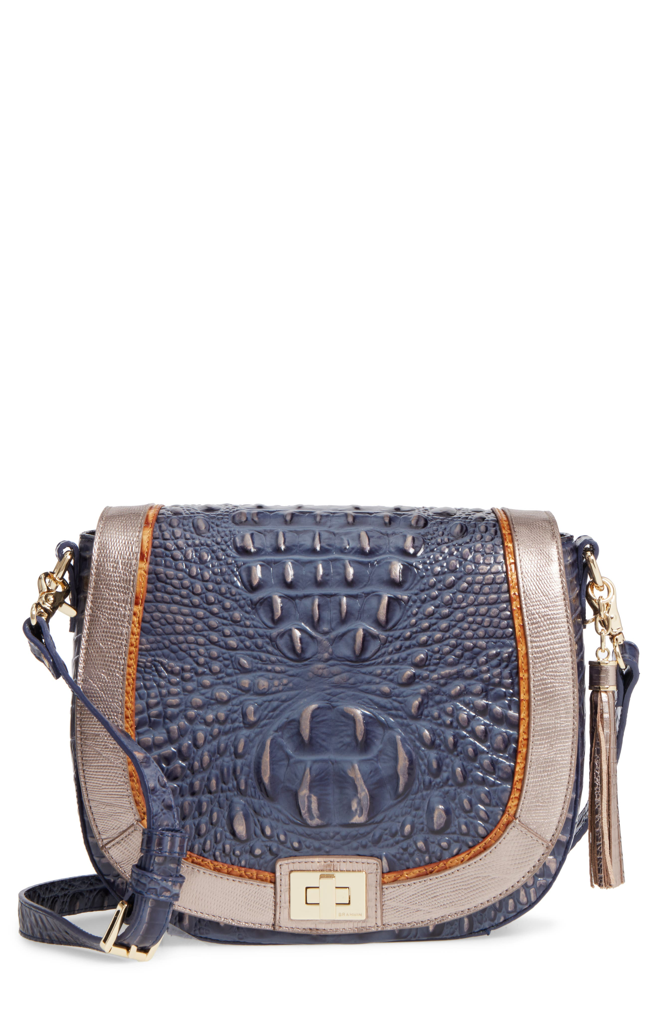 BRAHMIN Andesite Lucca Sonny Leather Crossbody Bag
