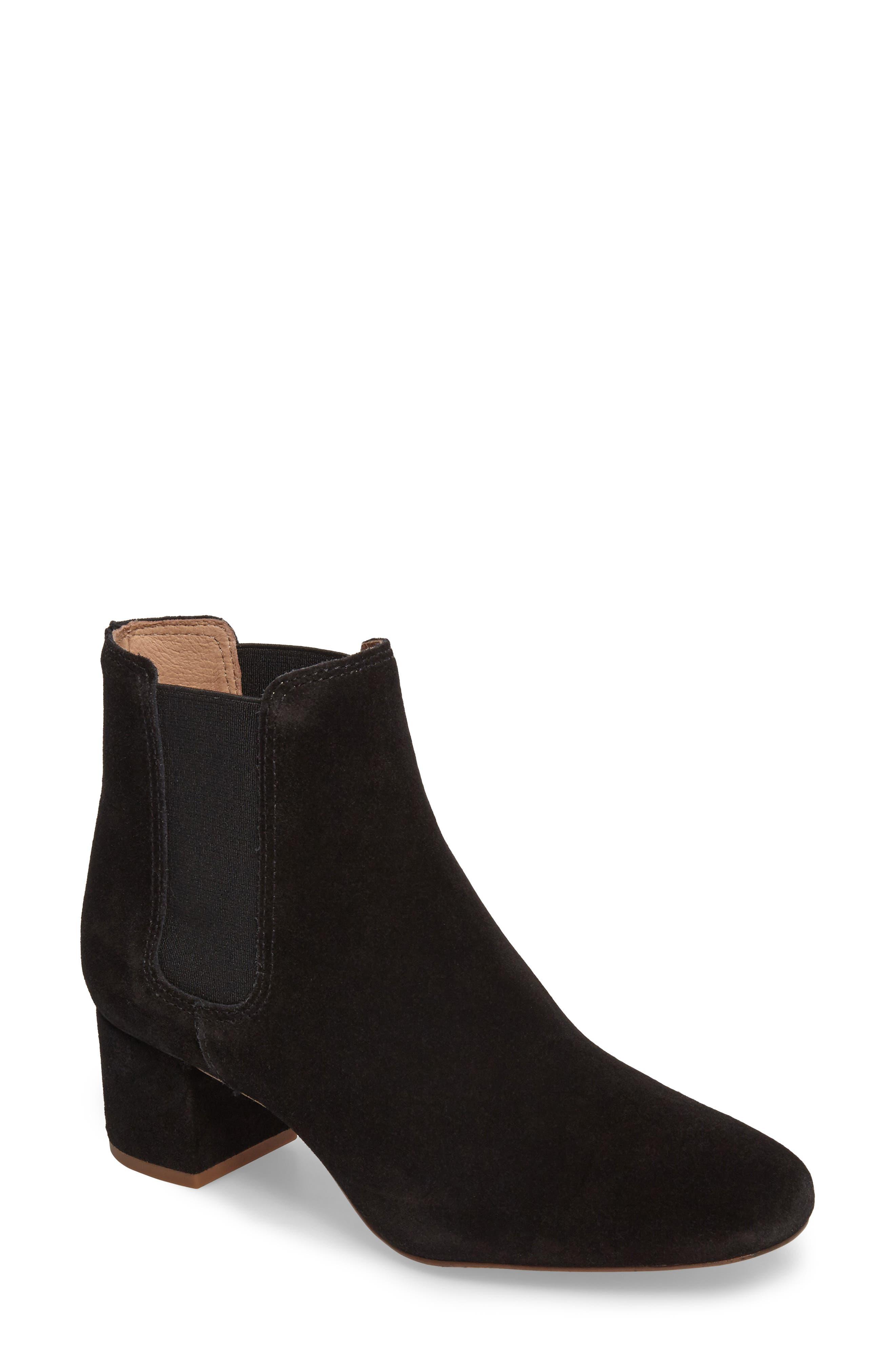 Walker Chelsea Boot,                         Main,                         color, True Black Suede