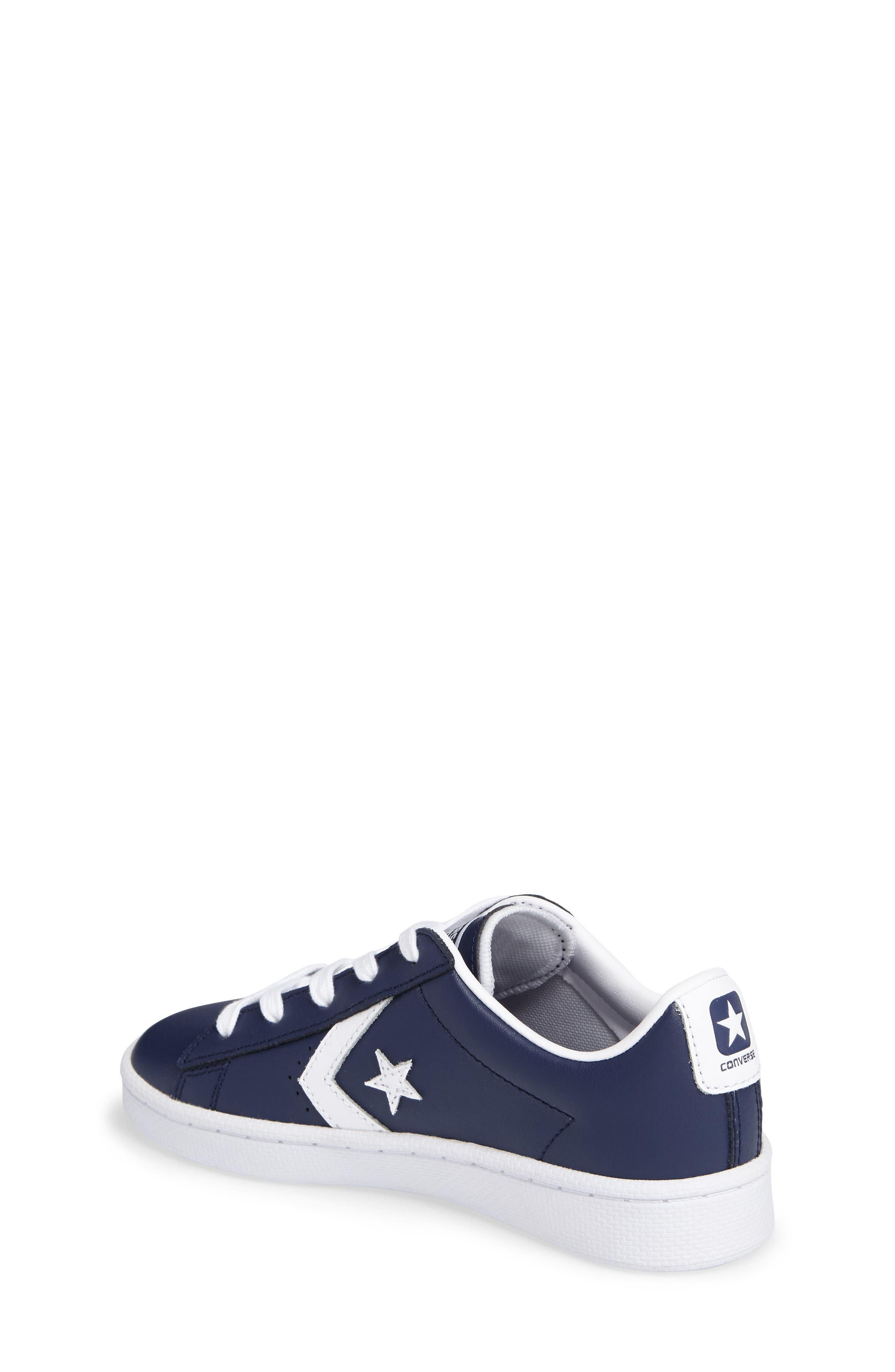 Alternate Image 3  - Converse All Star® Pro Leather Low Top Sneaker (Toddler & Little Kid)