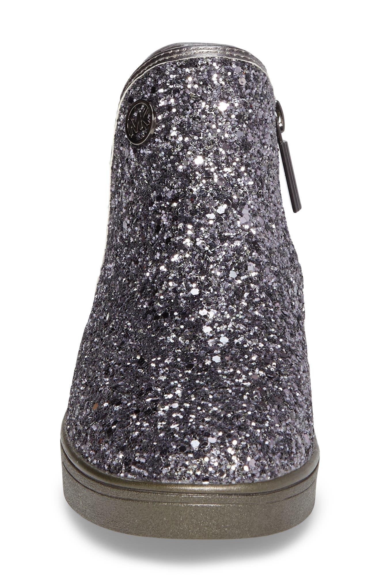 Alternate Image 4  - MICHAEL Michael Kors Ollie Rae Glittery Sneaker Boot (Walker, Toddler, Little Kid & Big Kid)