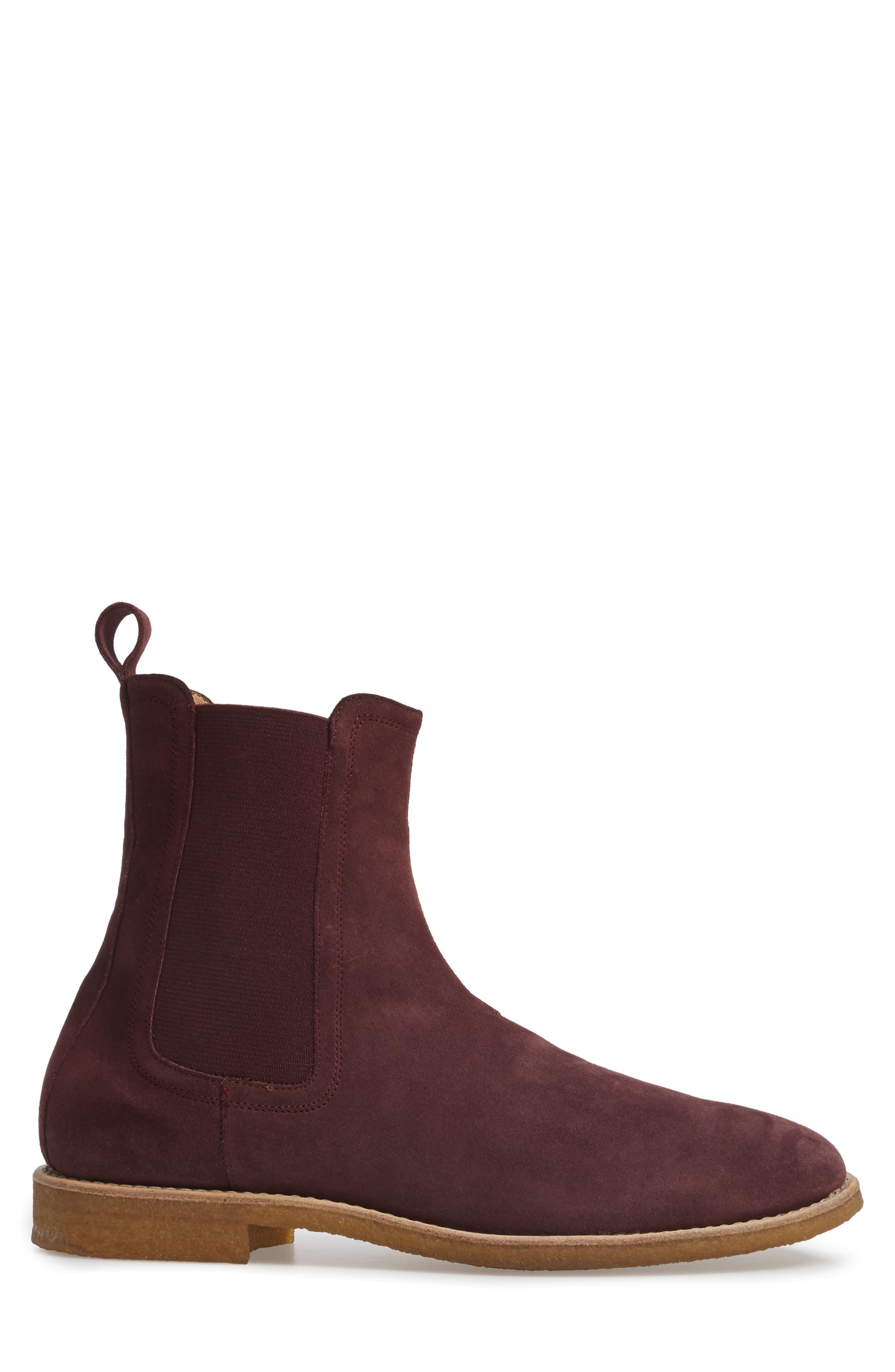 Chelsea Boot,                             Alternate thumbnail 4, color,                             Prunga Burgundy