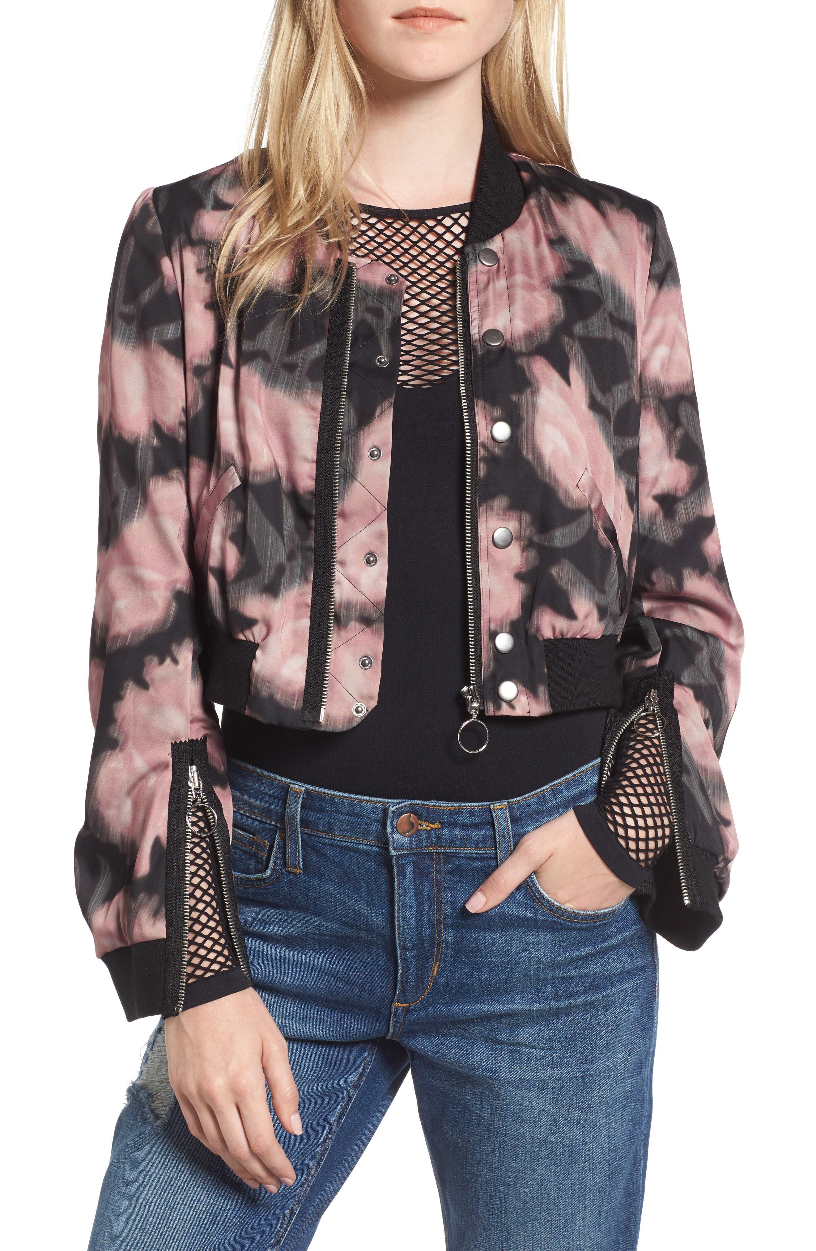 Alternate Image 1 Selected - Joe's Denni Floral Bomber Jacket