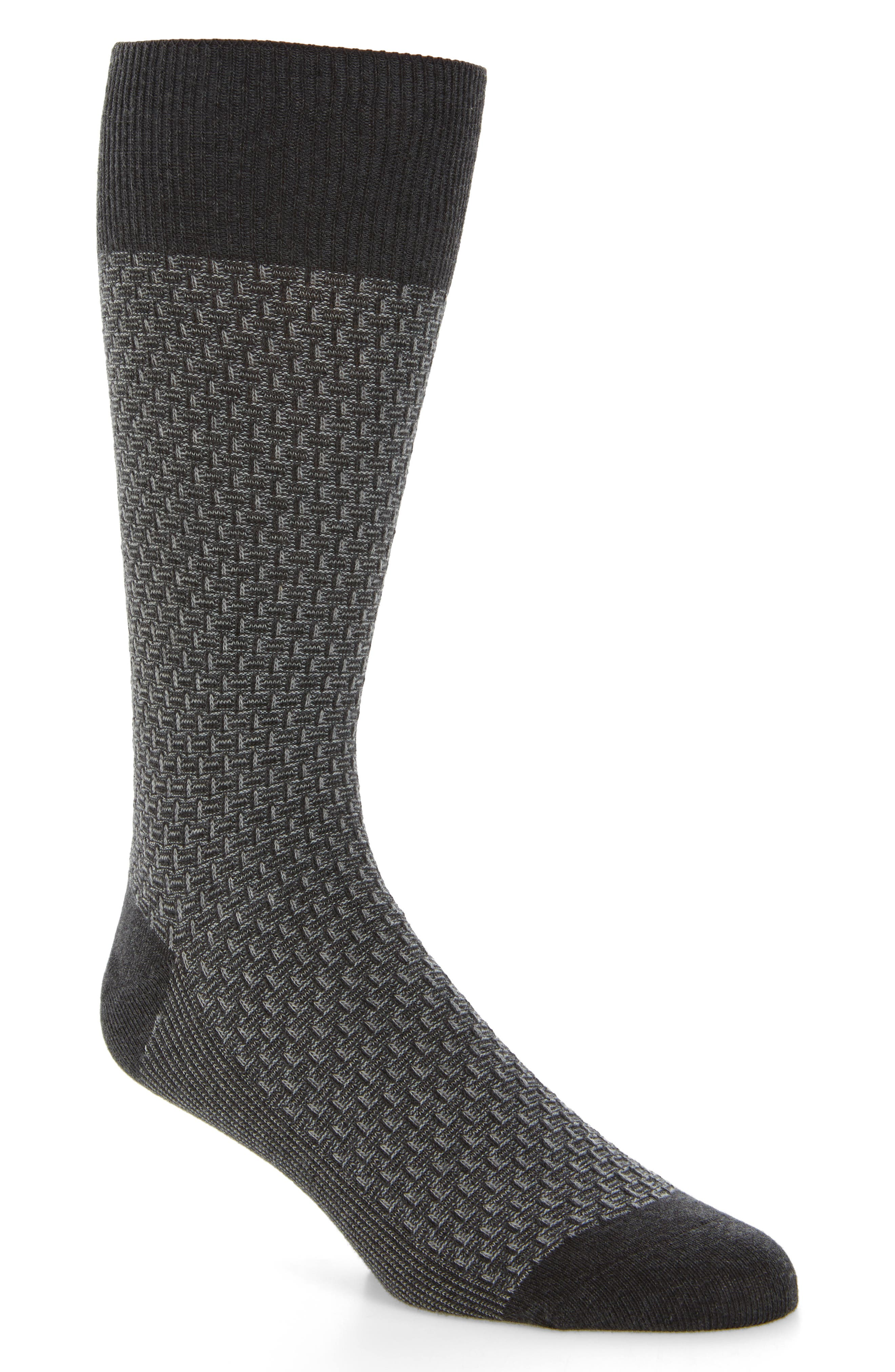 Alternate Image 1 Selected - Cole Haan Dog Bone Texture Crew Socks (3 for $30)