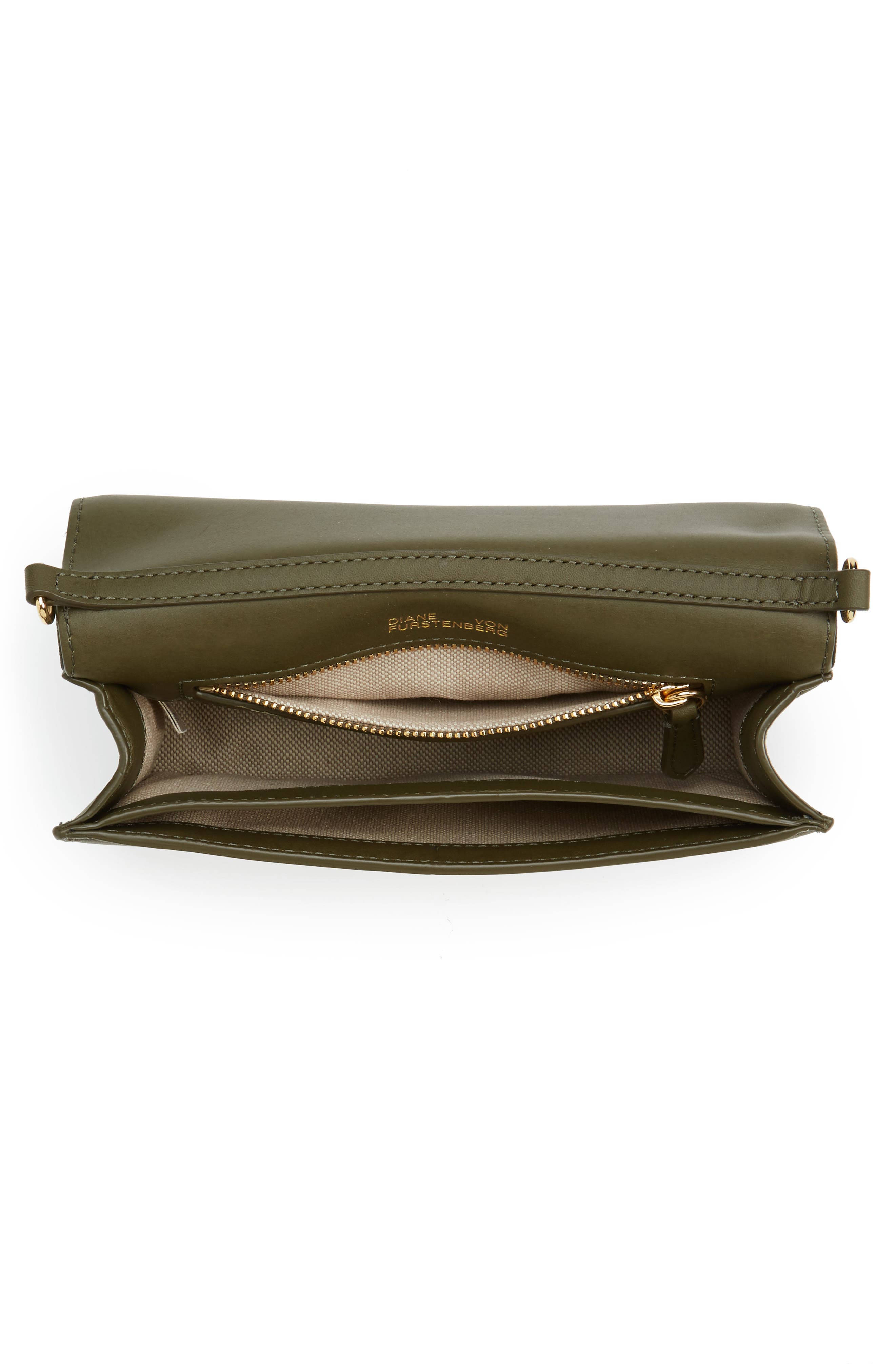 Alternate Image 4  - Diane von Furstenberg Soirée Satin Convertible Crossbody Bag