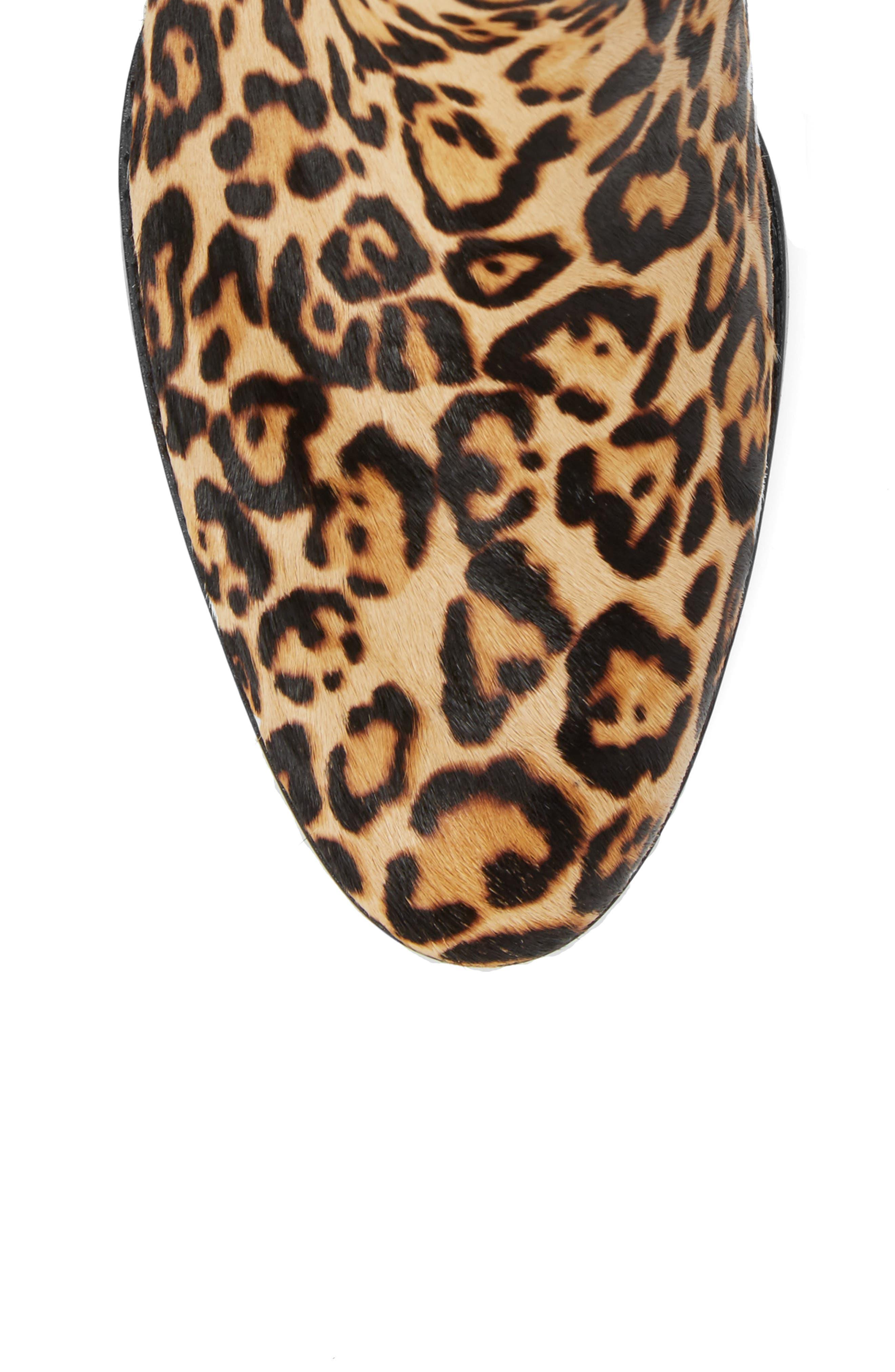 Rosalie II Genuine Calf Hair Chelsea Bootie,                             Alternate thumbnail 5, color,                             Leopard Calf Hair