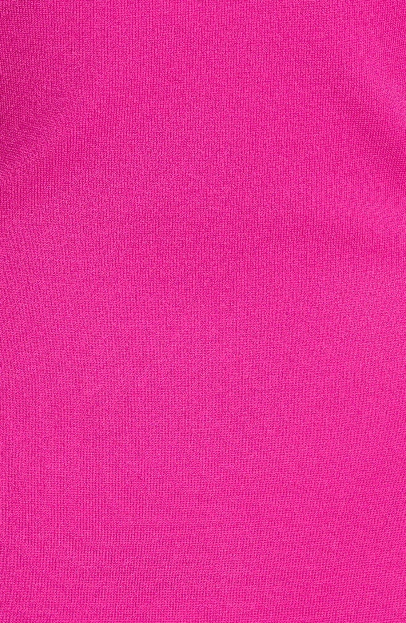 Diane von Furstenberg Knit One-Shoulder Midi Dress,                             Alternate thumbnail 5, color,                             Ribbon Pink