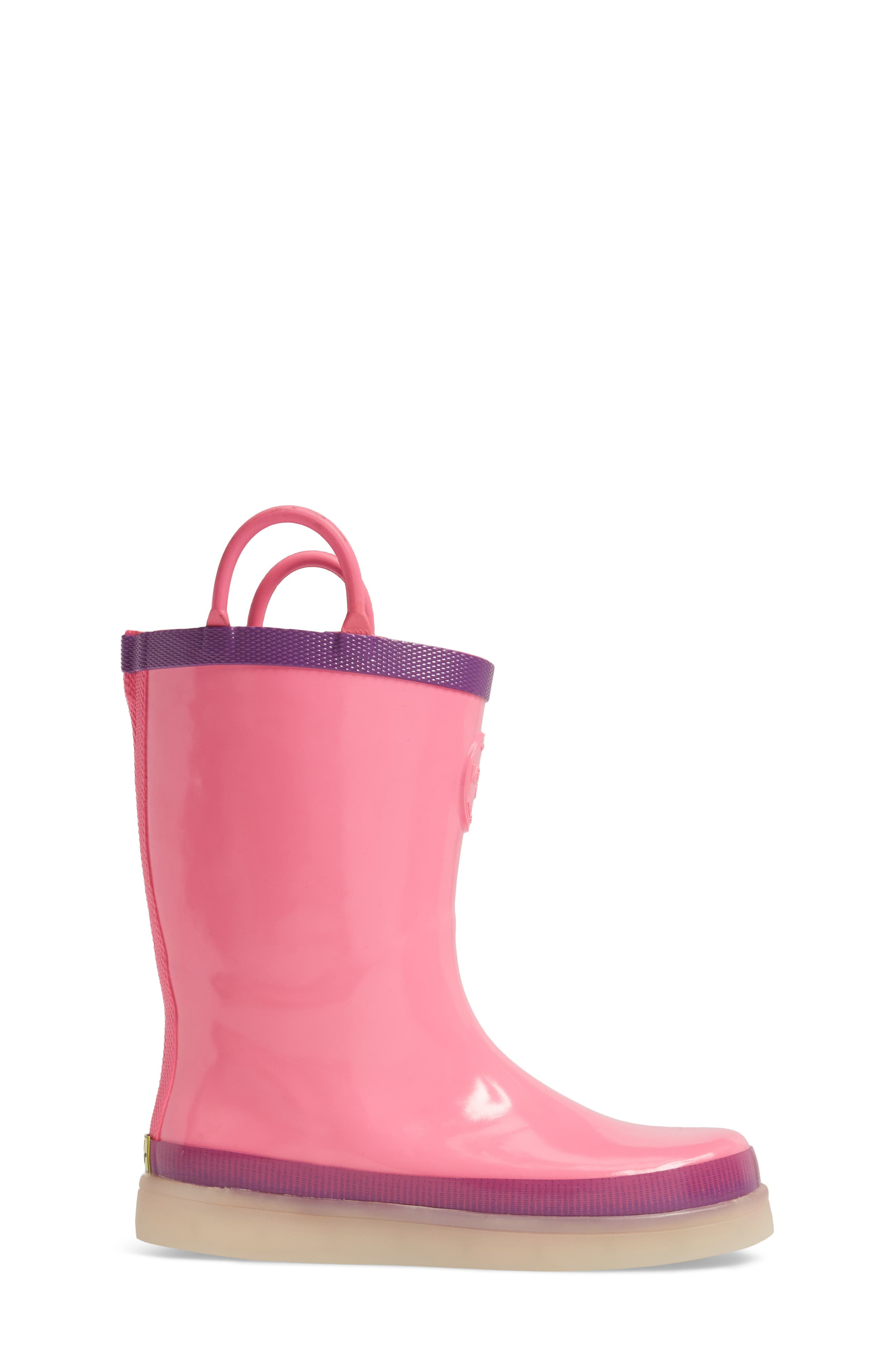 Alternate Image 3  - Western Chief Tech Solid LED Rain Boot (Toddler, Little Kid & Big Kid)