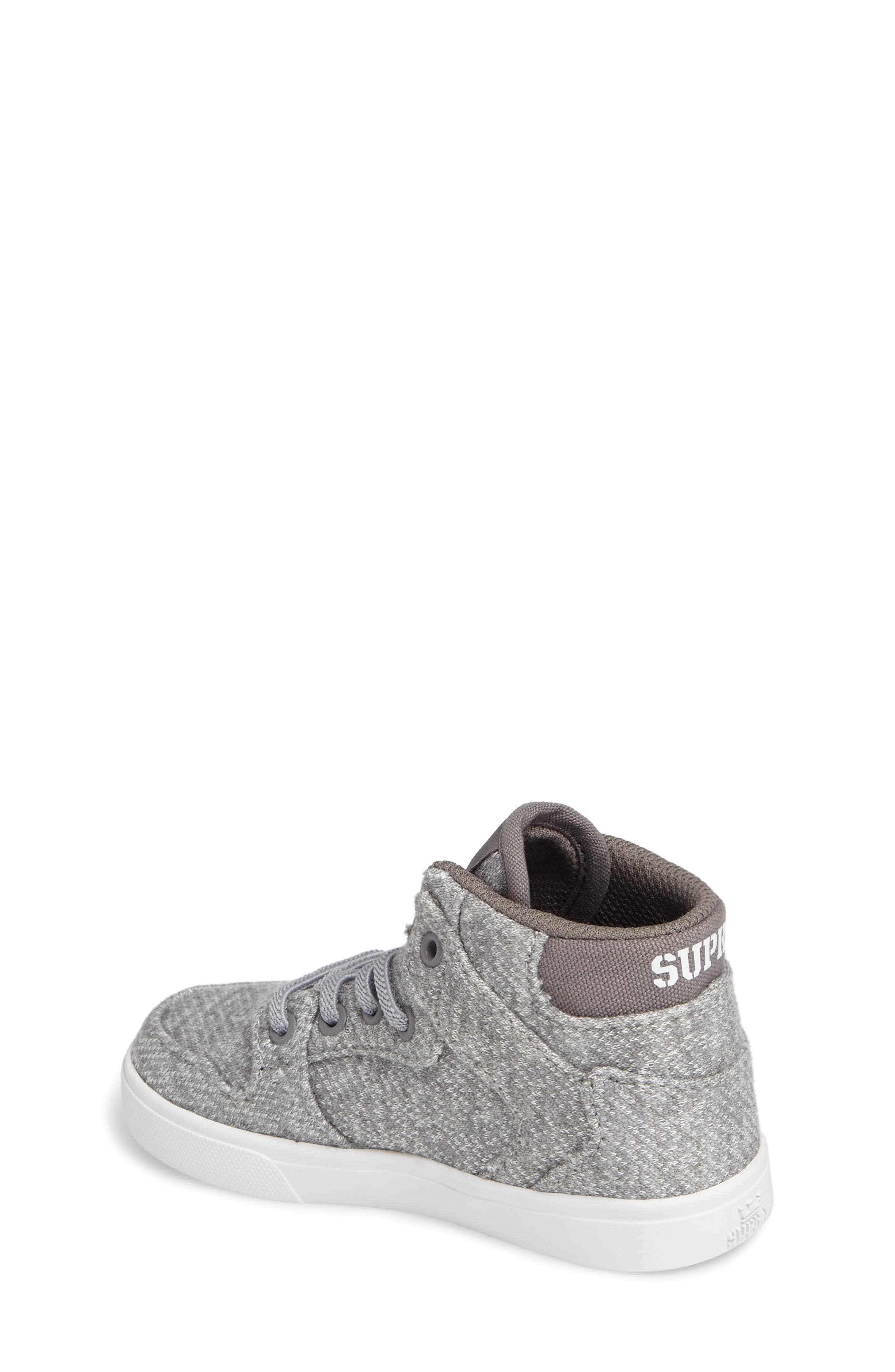 'Vaider' High Top Sneaker,                             Alternate thumbnail 2, color,                             Silver