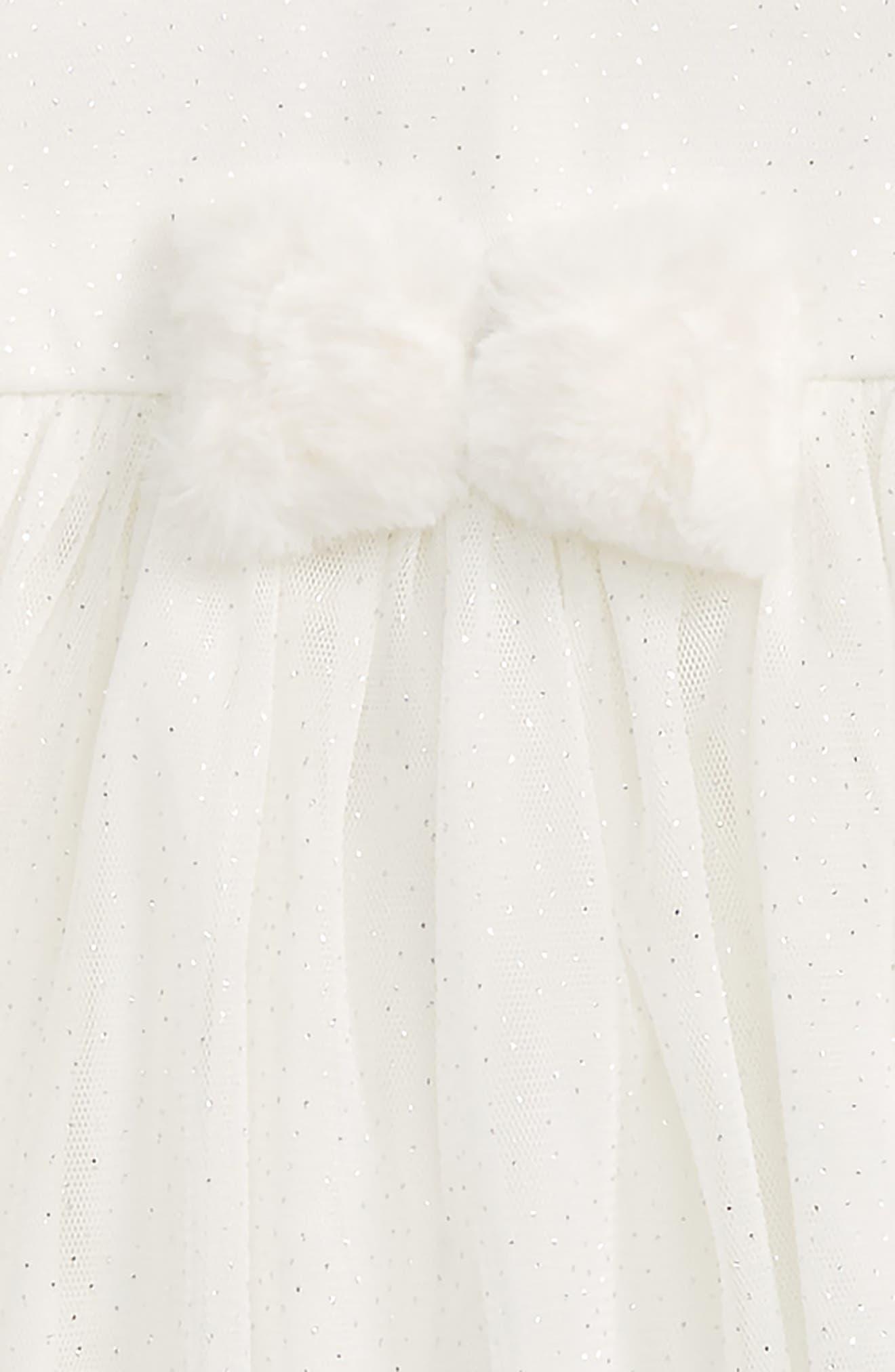 Sparkle Mesh Dress & Headband Set,                             Alternate thumbnail 2, color,                             Ivory