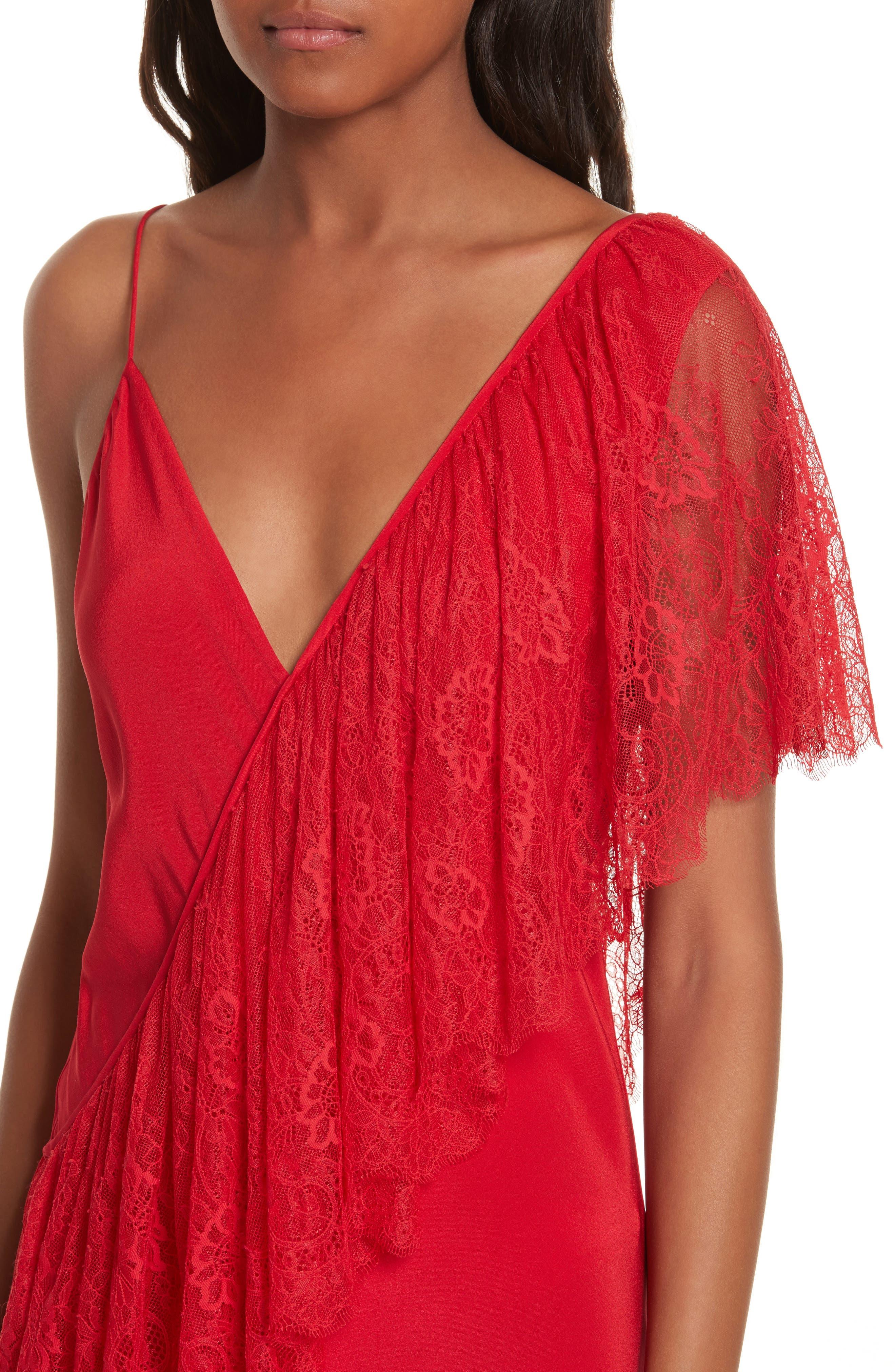 Alternate Image 4  - Diane von Furstenberg Ruffle Front Lace Dress
