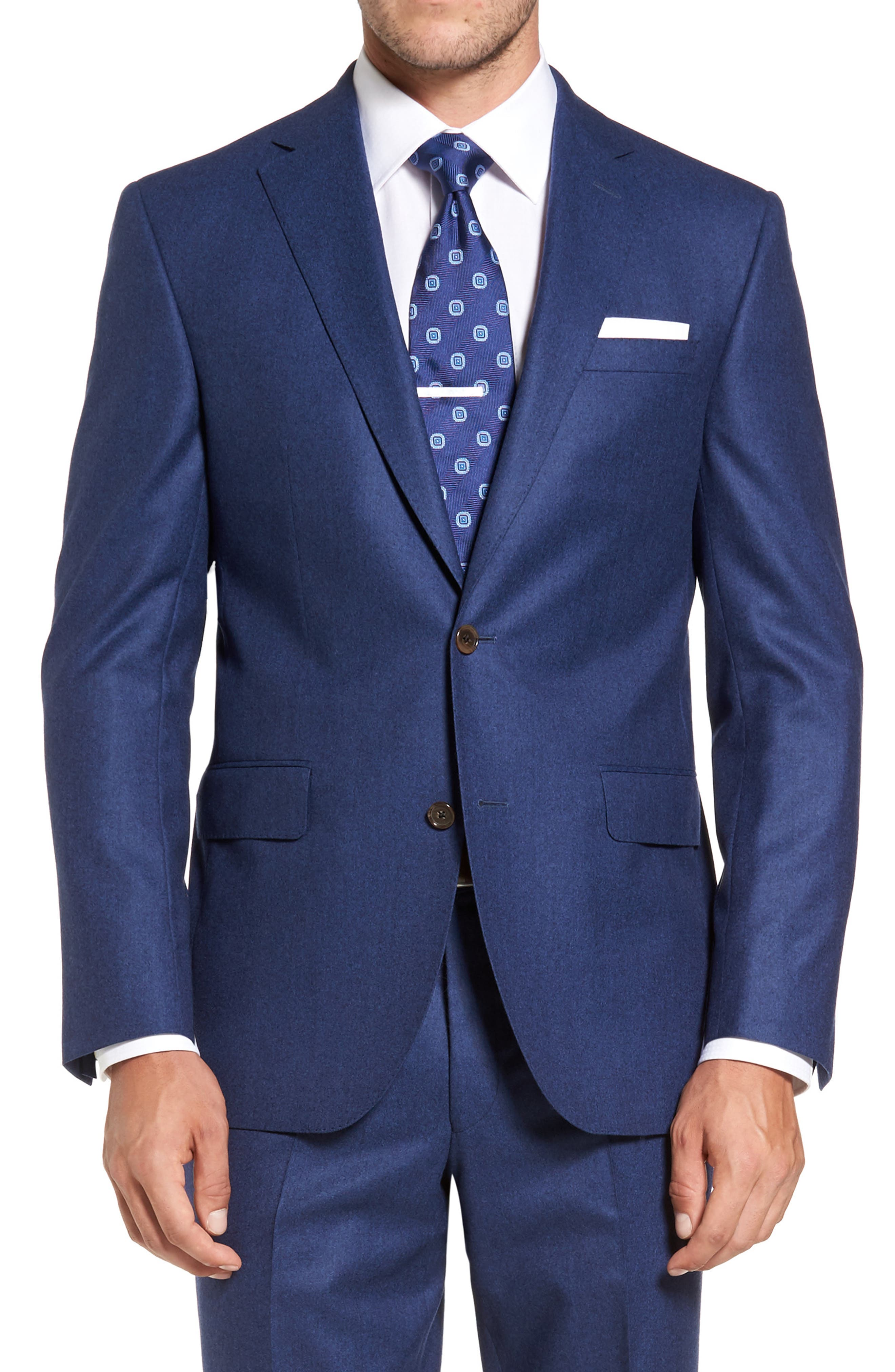 Ryan Classic Fit Solid Wool Suit,                             Alternate thumbnail 5, color,                             Blue