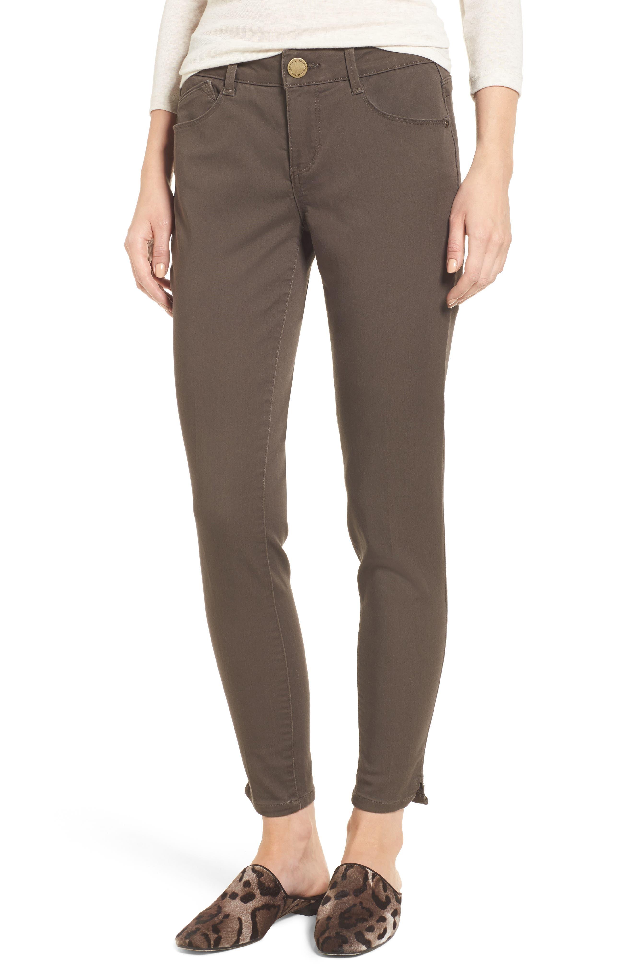 Womens Brown Capri Pants t4Cg7GL2