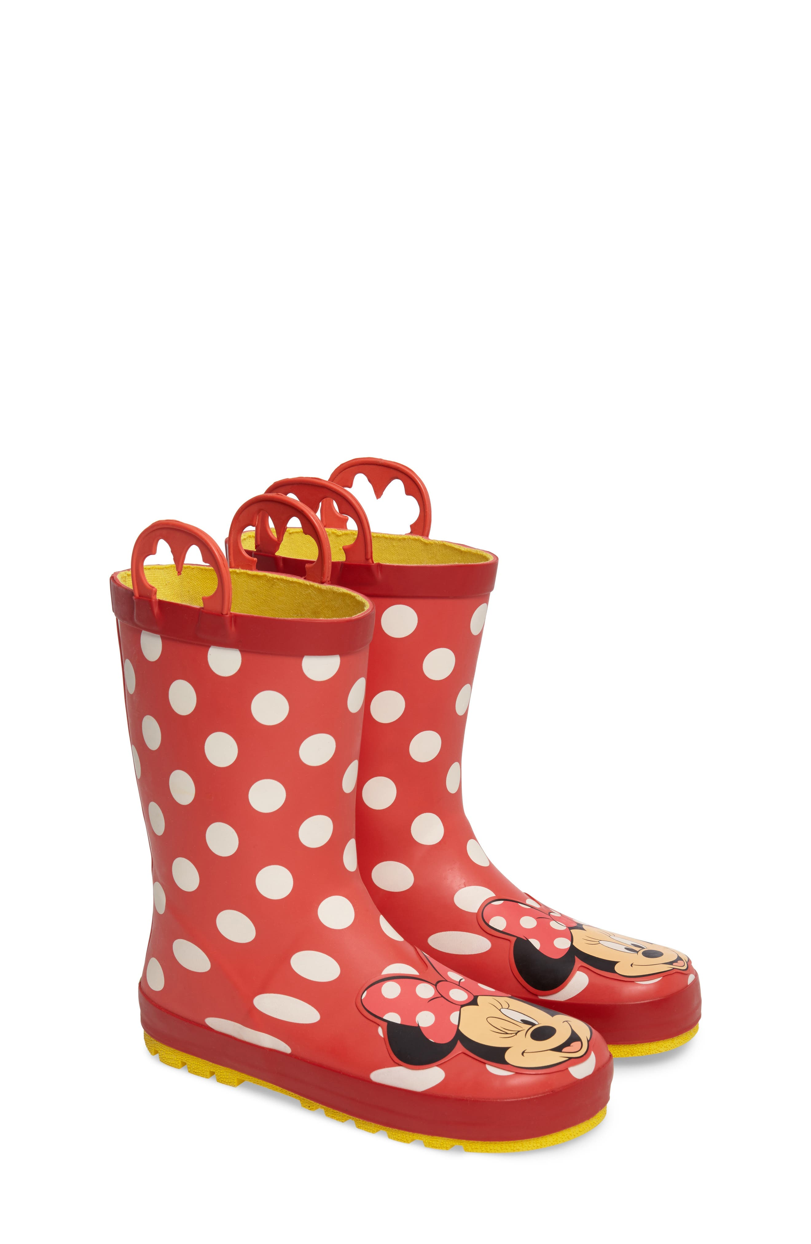 Minnie Mouse Rain Boot,                             Main thumbnail 1, color,                             Red