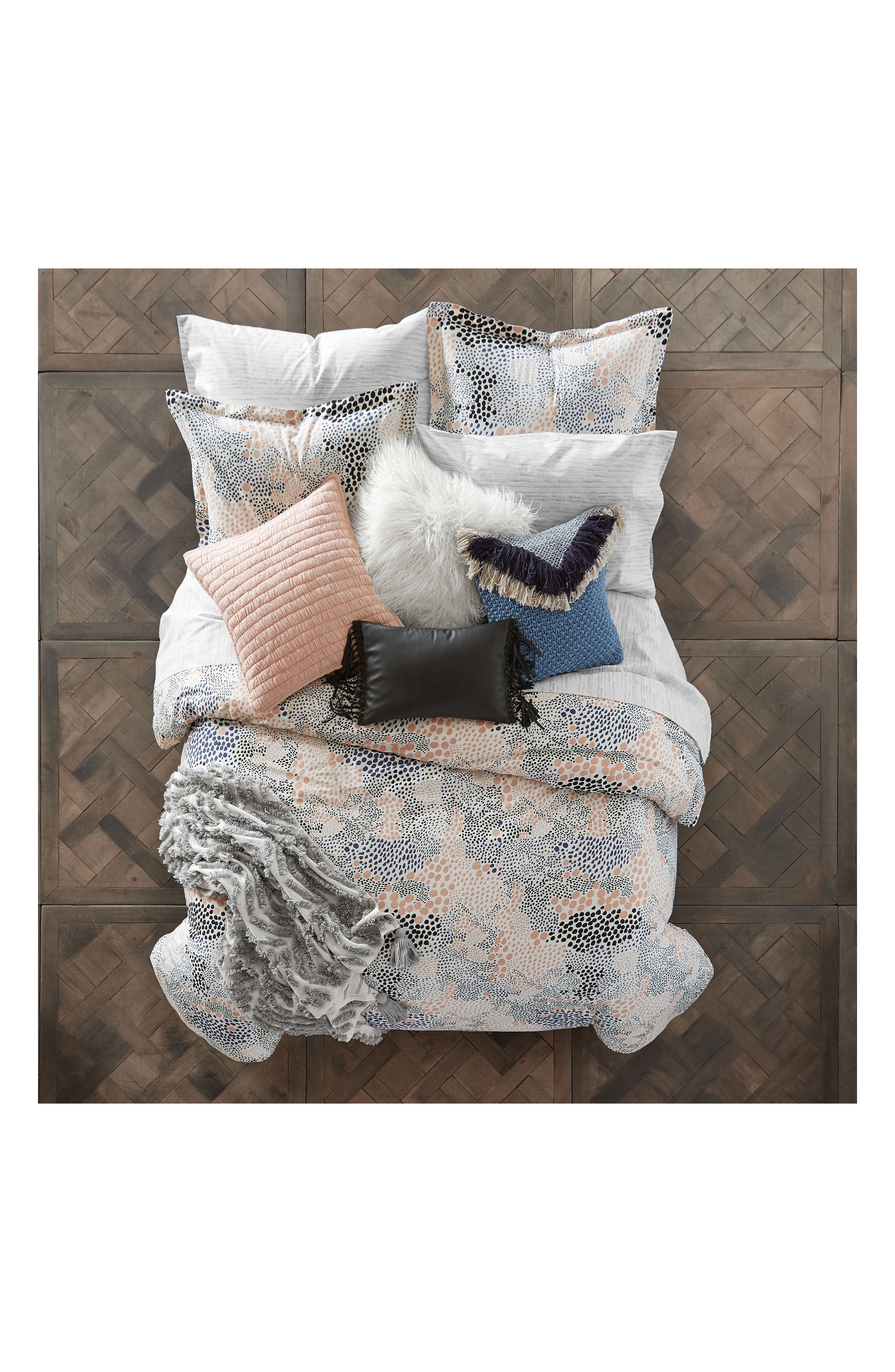Alternate Image 2  - BCBGeneration Fringe Benefits Faux Leather Pillow