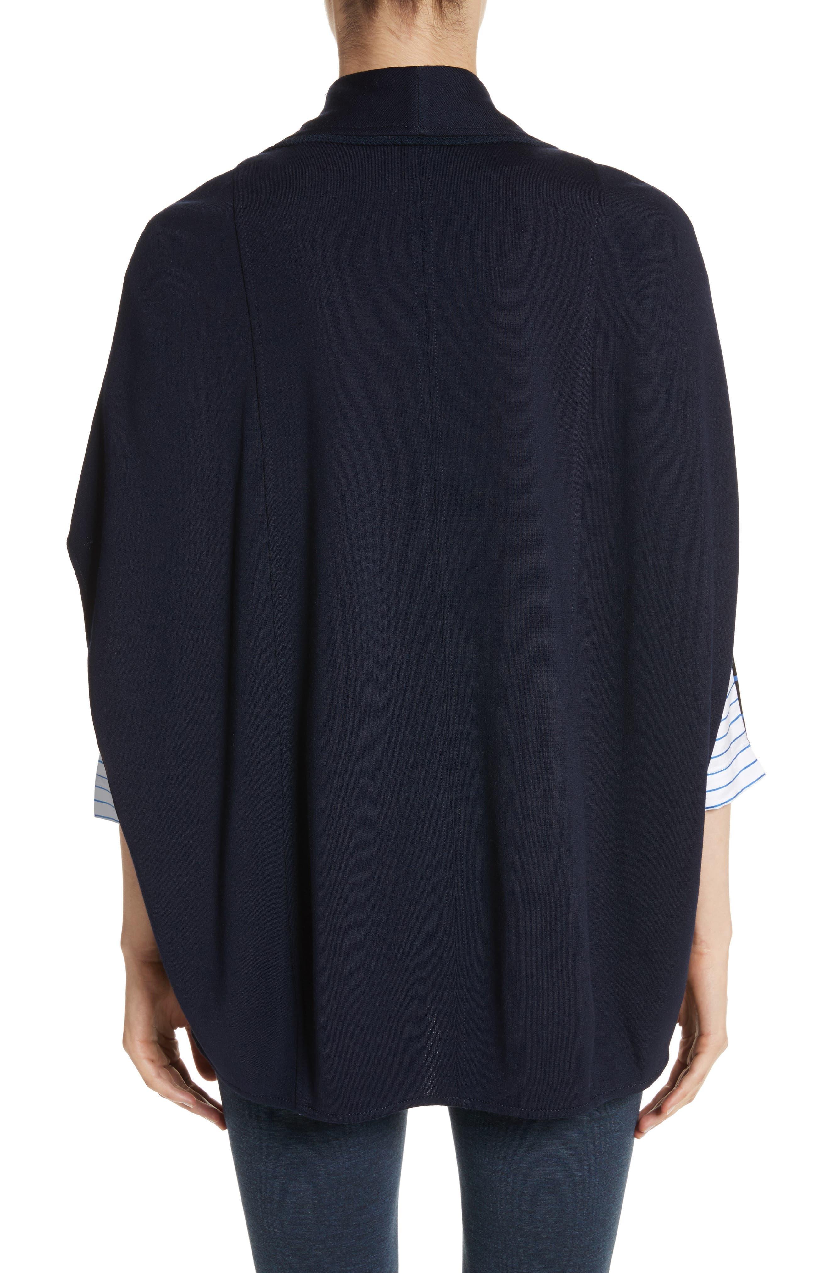 Circular Milano Knit Jacket,                             Alternate thumbnail 2, color,                             Navy