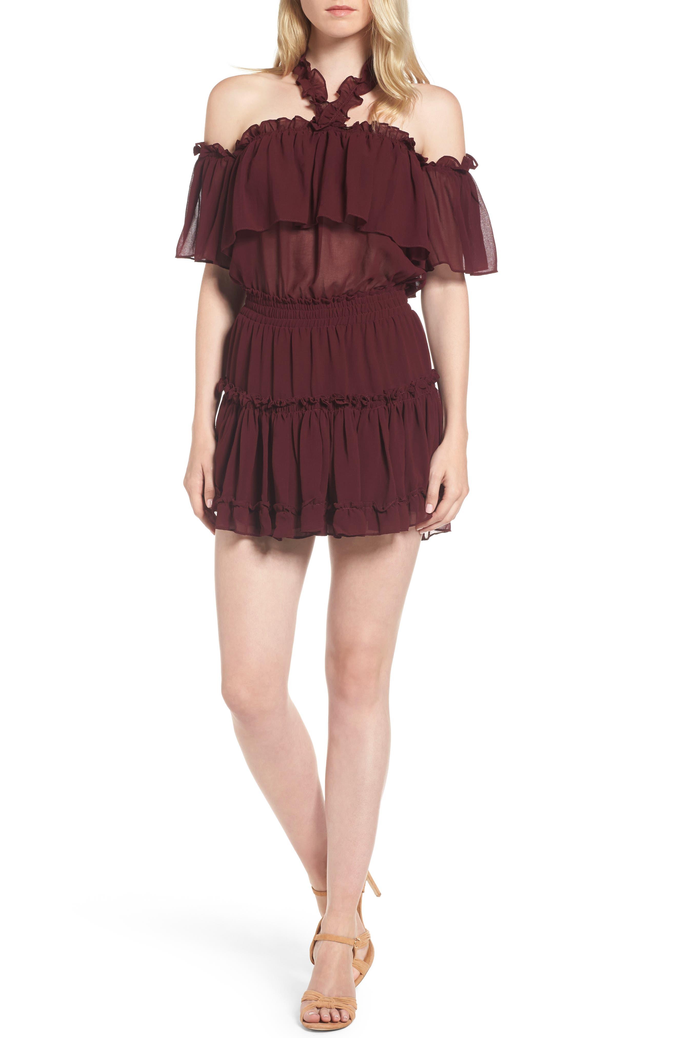Melis Minidress,                         Main,                         color, Burgundy