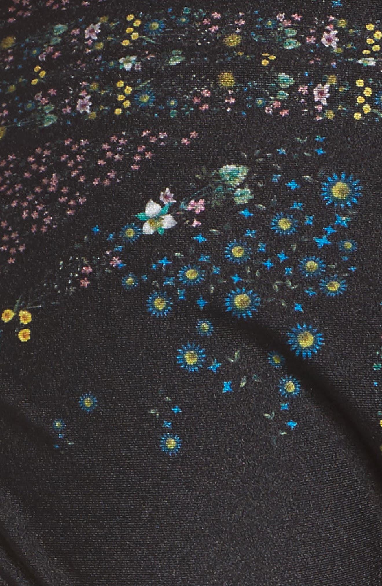 Unity Floral Bikini Bottoms,                             Alternate thumbnail 5, color,                             Black