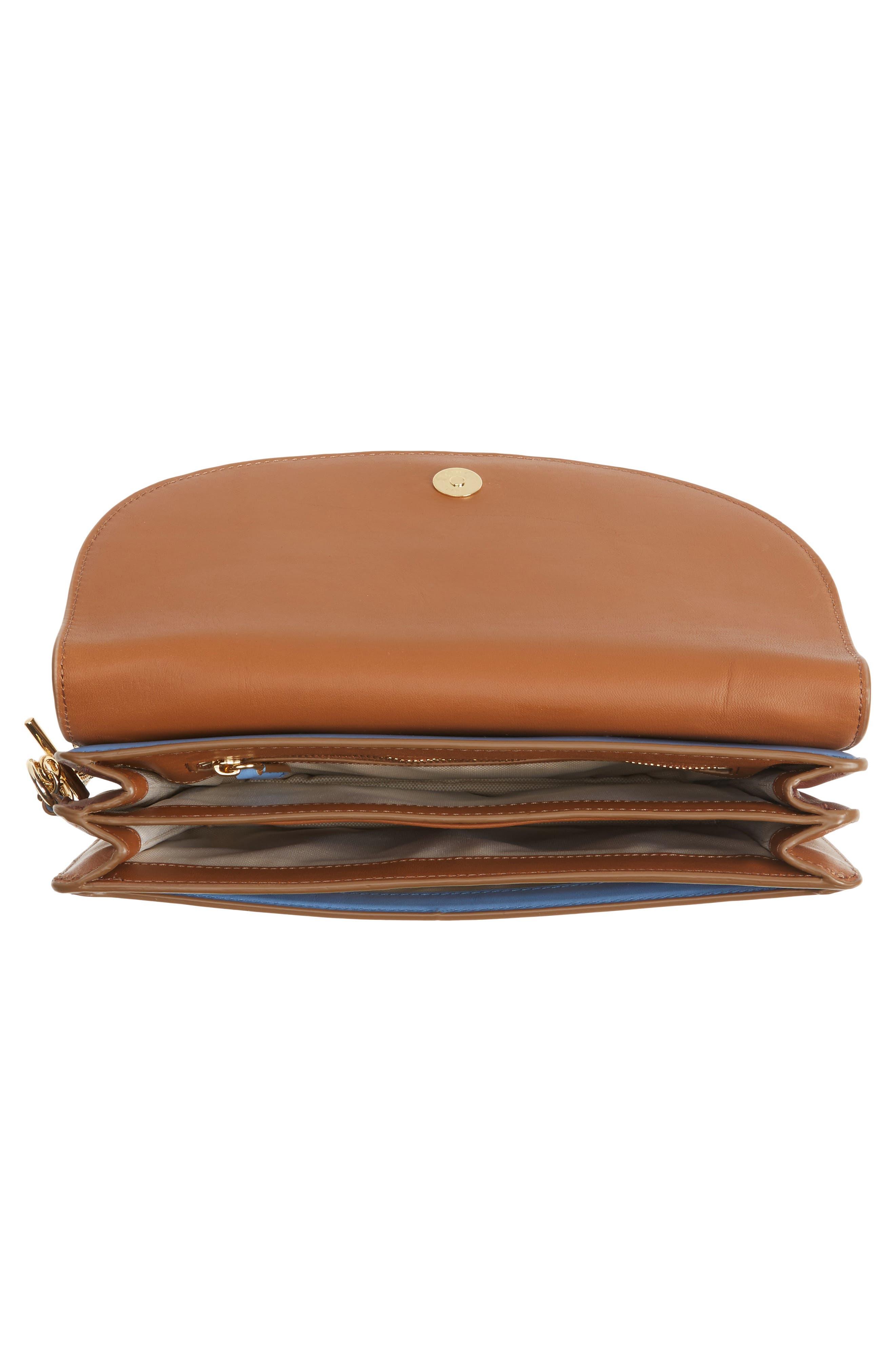 Alternate Image 4  - Diane von Furstenberg Convertible Leather & Genuine Calf Hair Saddle Clutch