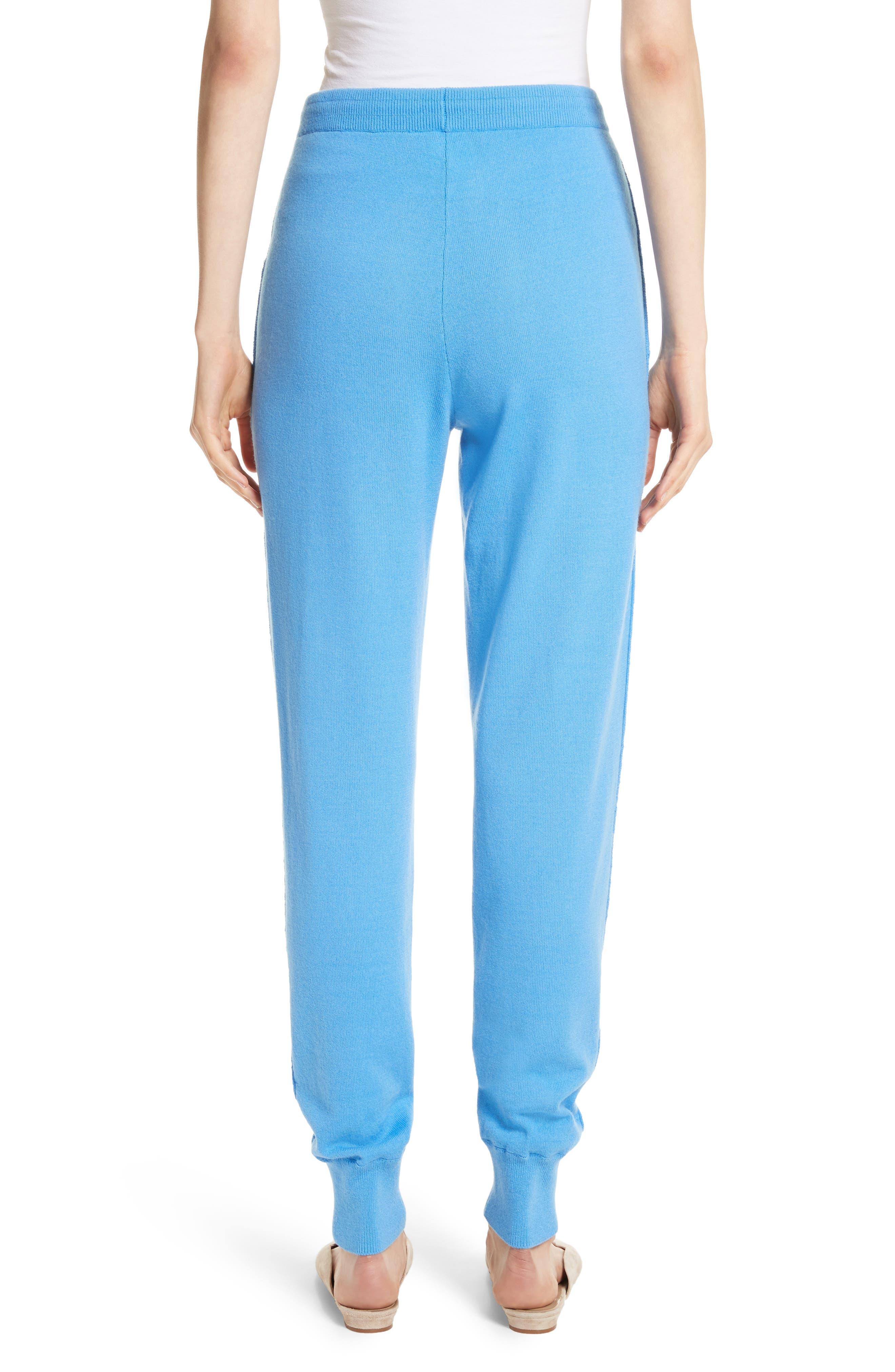 Cashmere Jersey Pants,                             Alternate thumbnail 2, color,                             Bright Niagara