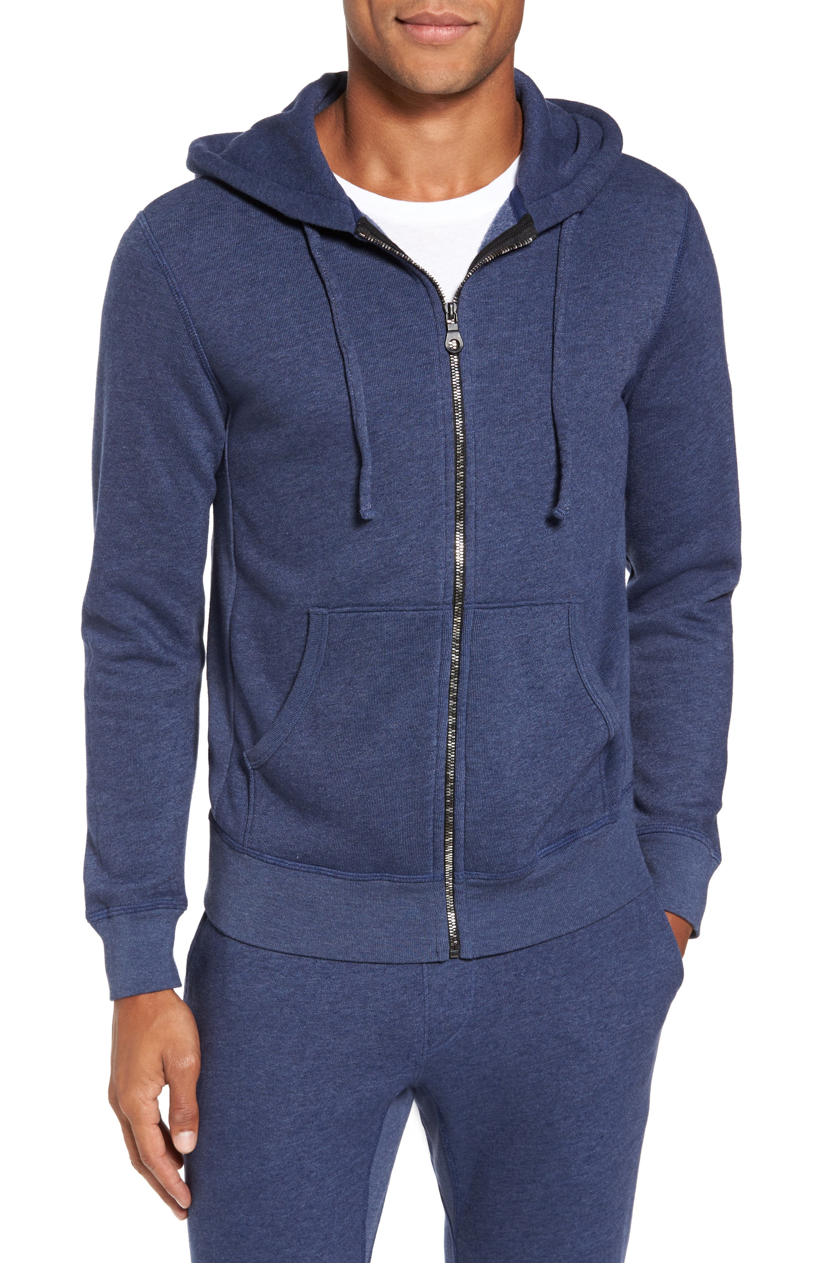 Zip Front Hoodie,                             Main thumbnail 1, color,                             Goodlife Navy