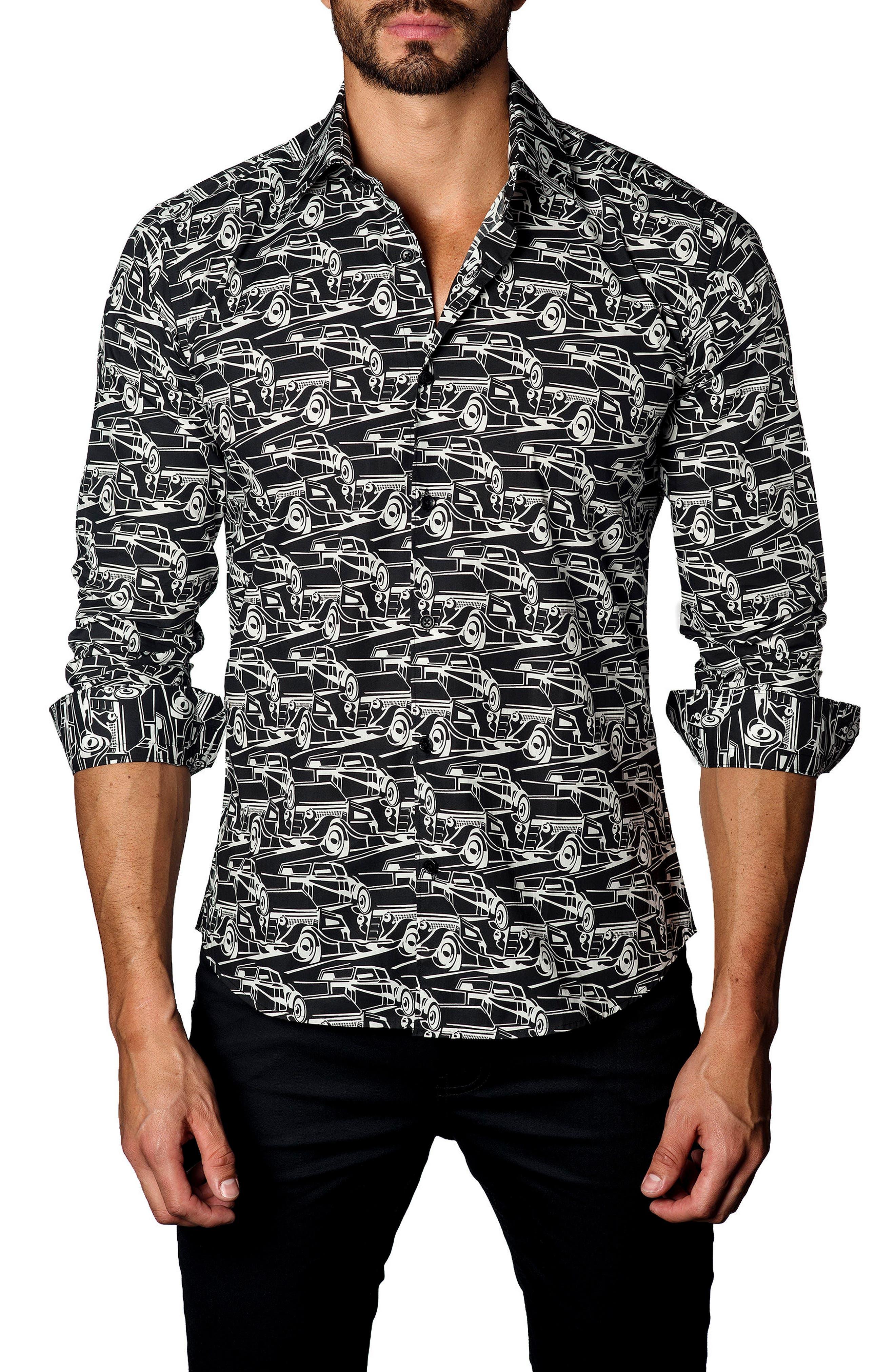 Jared Lang Trim Fit Sedans Sport Shirt