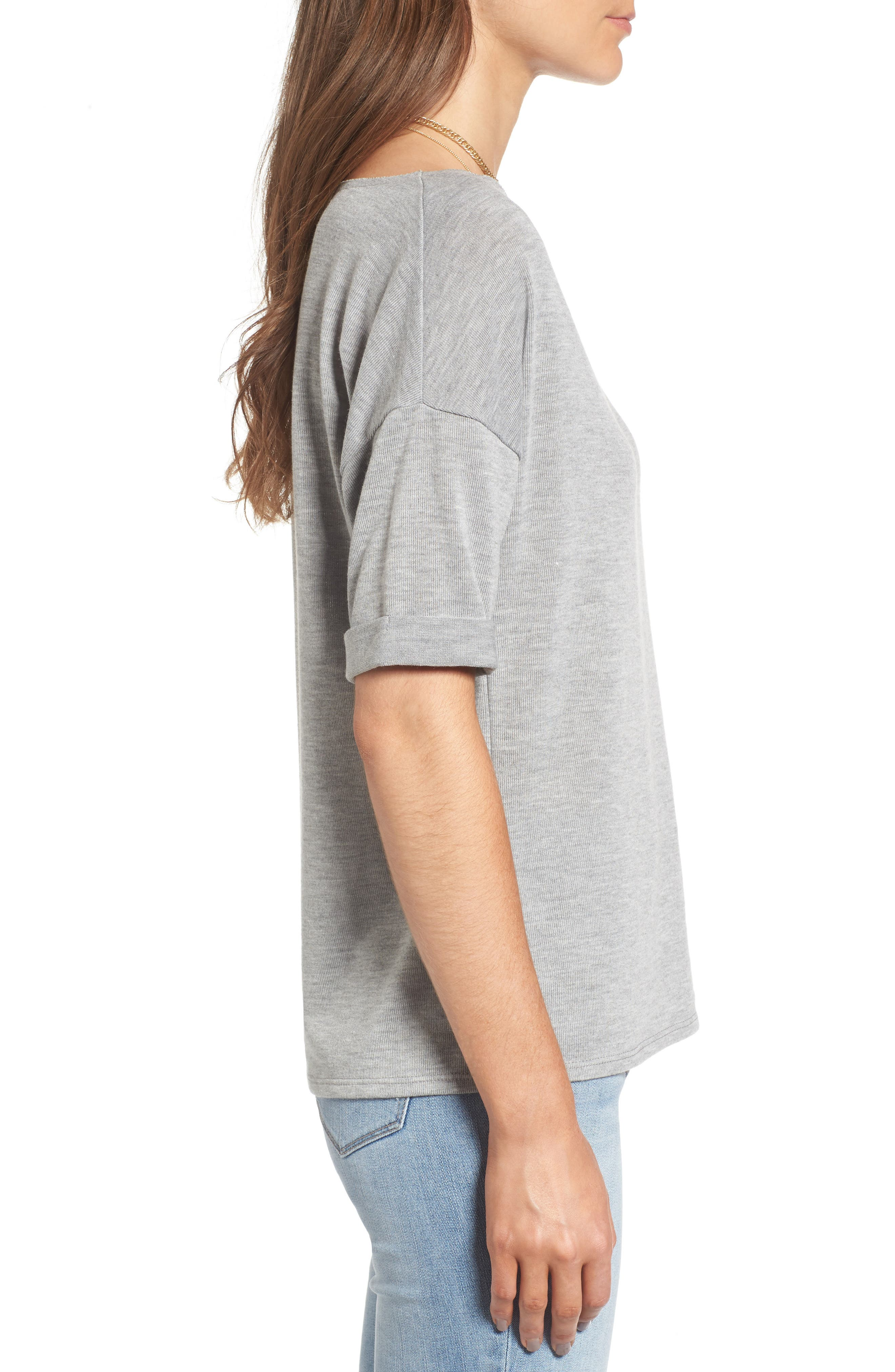 x Something Navy Easy Tee,                             Alternate thumbnail 4, color,                             Grey Heather