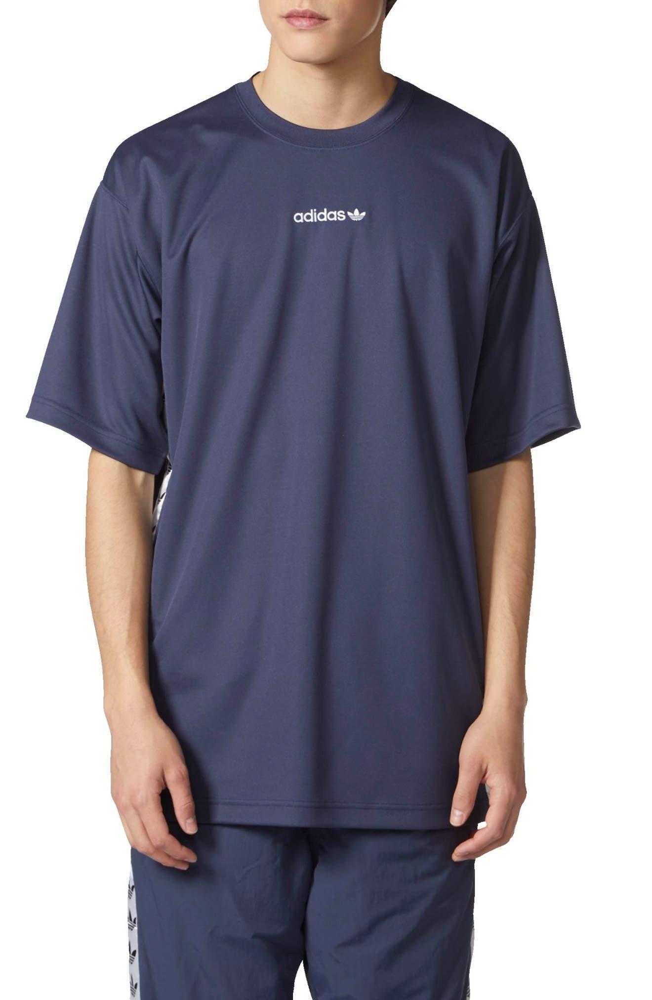 TNT Tape T-Shirt,                             Main thumbnail 1, color,                             Trace Blue/ White