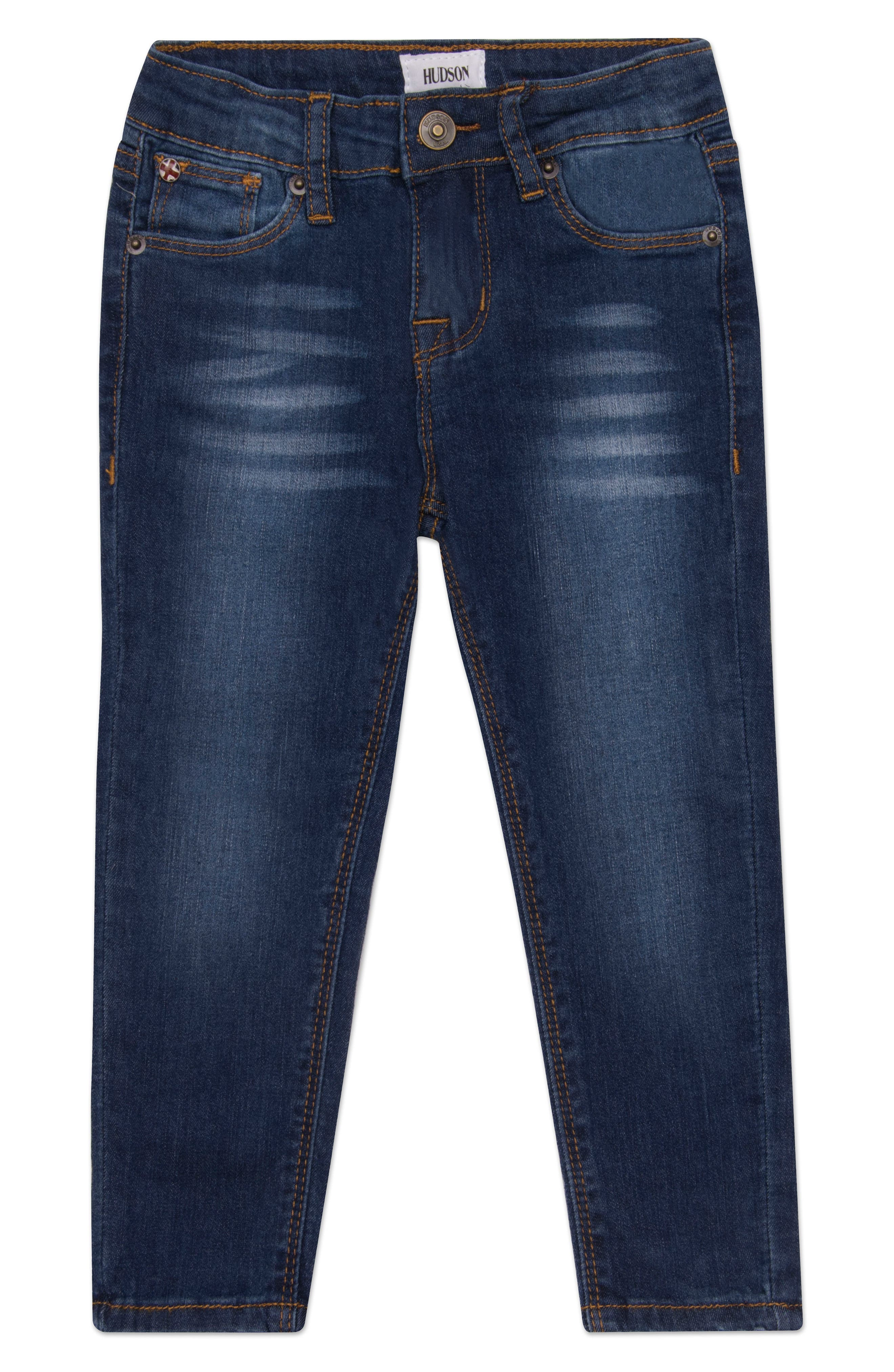 Main Image - Hudson Kids Christa Super Stretch Skinny Jeans (Baby Girls)