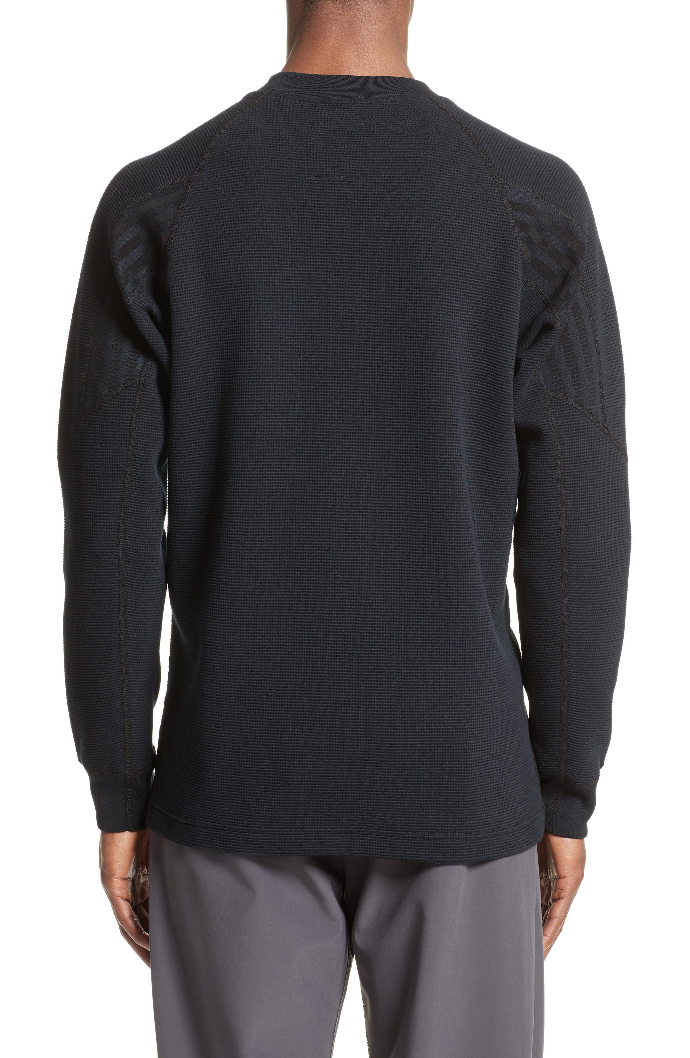 Fisherman Crewneck Sweatshirt,                             Alternate thumbnail 2, color,                             Black